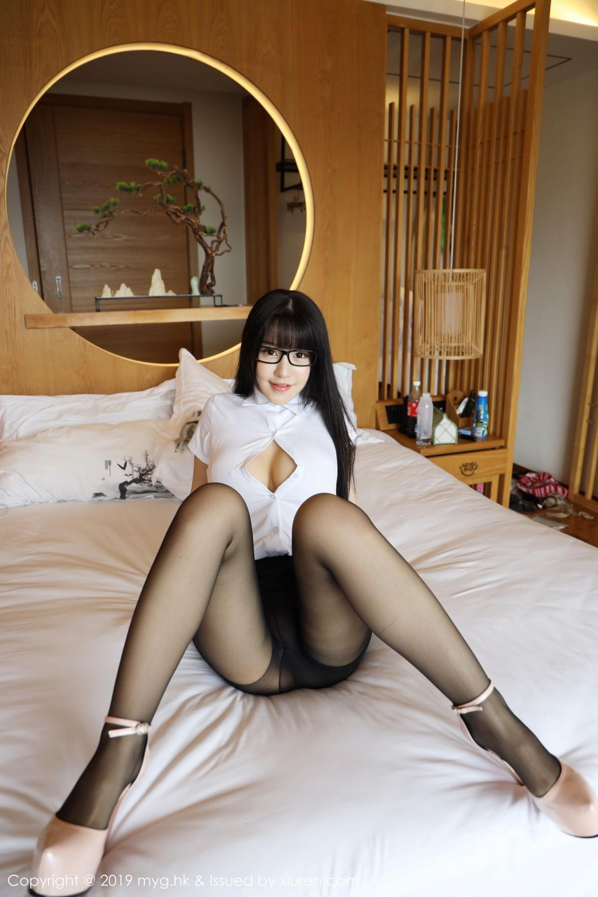 [MyGirl] Vol.368 Zhu Ke Er 2P, Black Silk, mygirl, Tall, Uniform, Zhu Ke Er