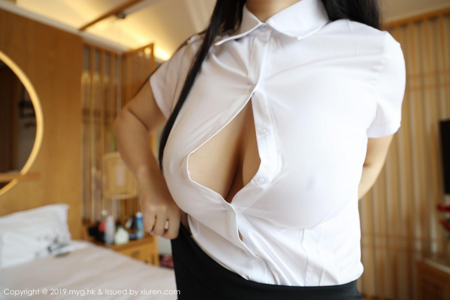 [MyGirl] Vol.368 Zhu Ke Er 31P, Black Silk, mygirl, Tall, Uniform, Zhu Ke Er