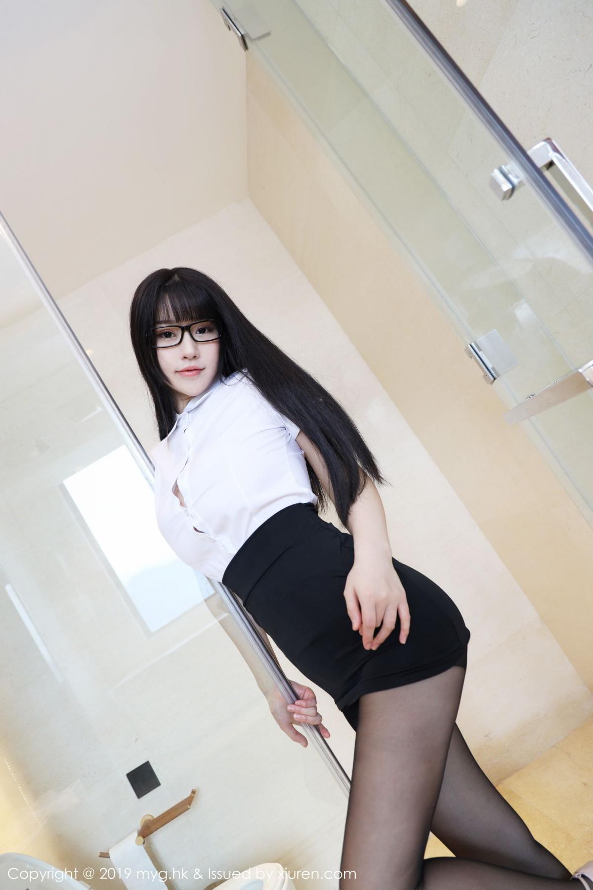 [MyGirl] Vol.368 Zhu Ke Er 35P, Black Silk, mygirl, Tall, Uniform, Zhu Ke Er