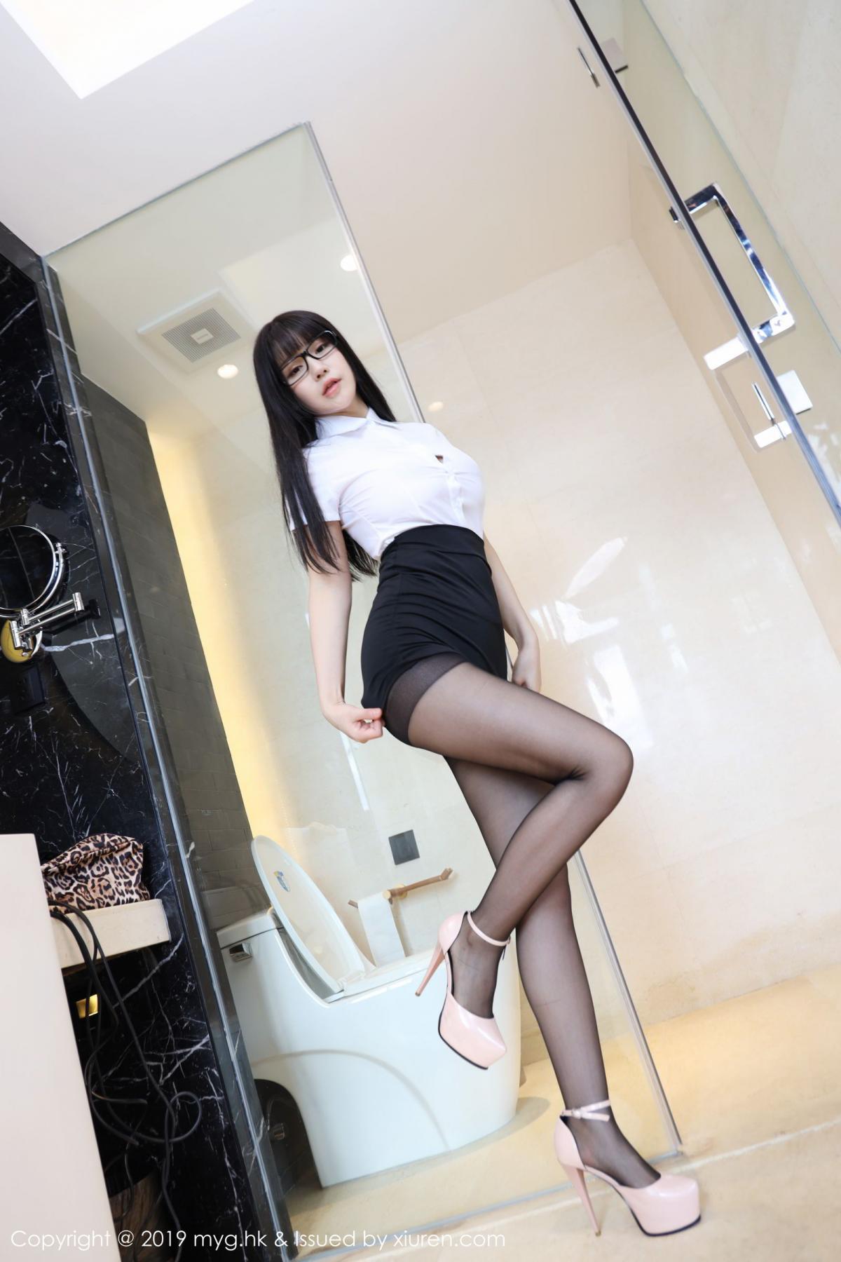 [MyGirl] Vol.368 Zhu Ke Er 36P, Black Silk, mygirl, Tall, Uniform, Zhu Ke Er