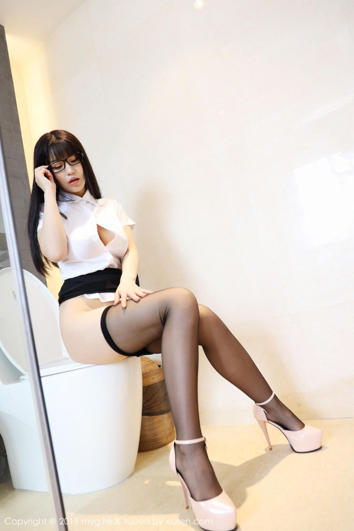 [MyGirl] Vol.368 Zhu Ke Er 49P, Black Silk, mygirl, Tall, Uniform, Zhu Ke Er