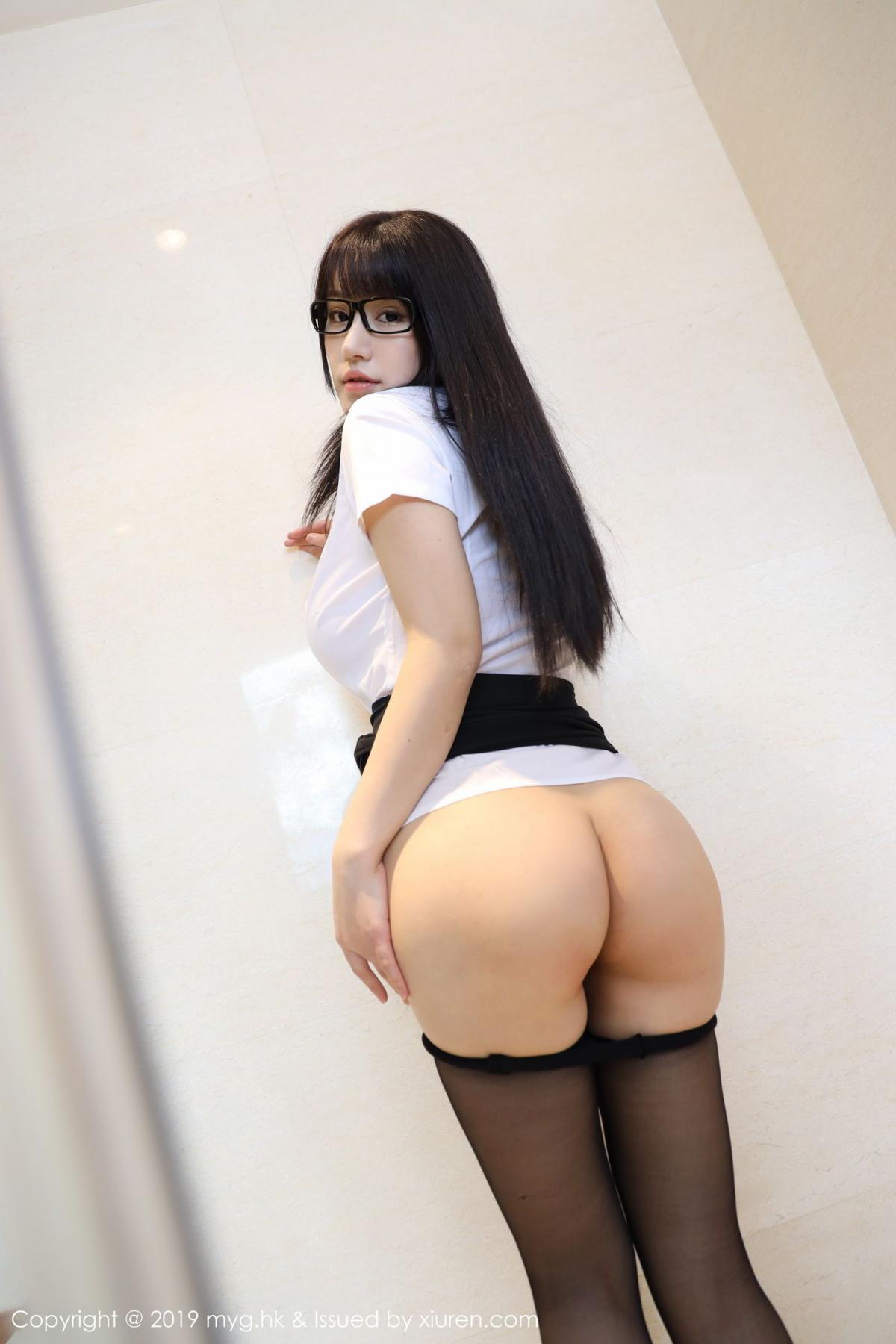 [MyGirl] Vol.368 Zhu Ke Er 54P, Black Silk, mygirl, Tall, Uniform, Zhu Ke Er