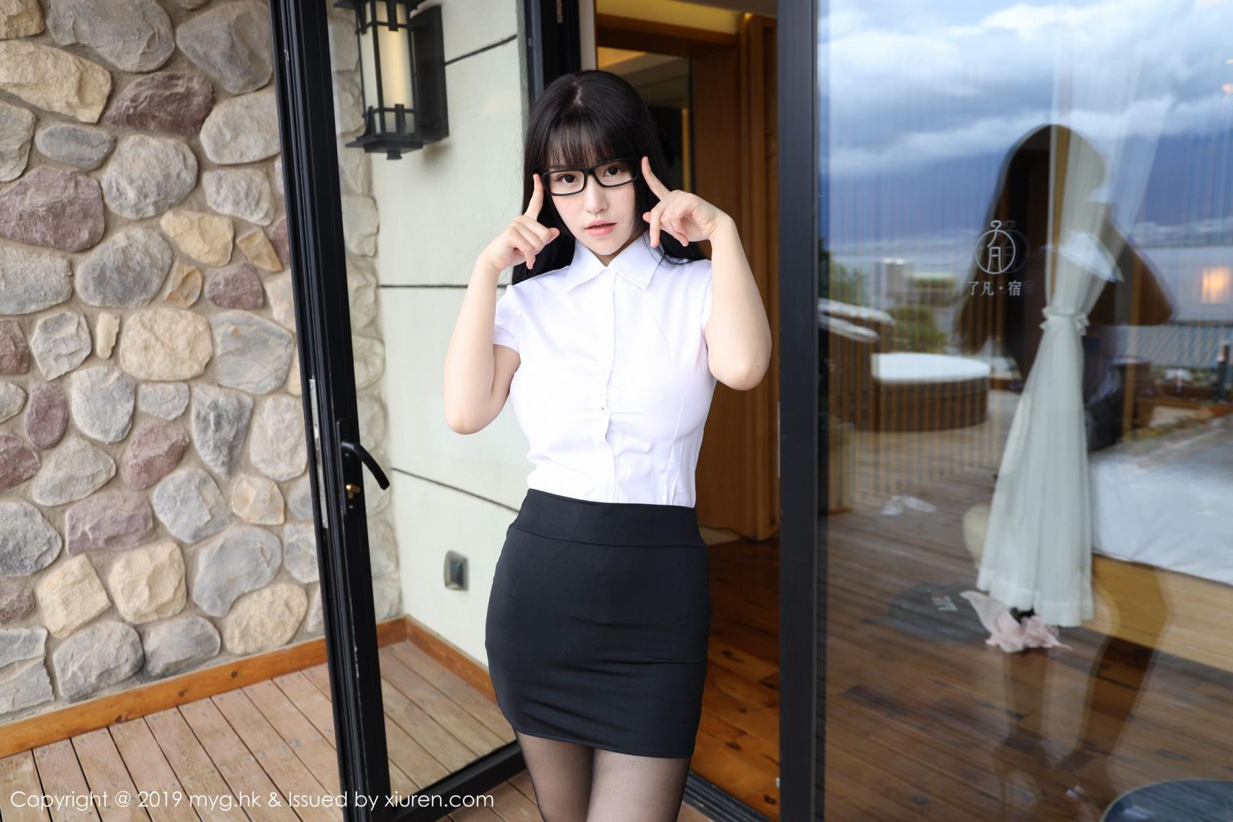 [MyGirl] Vol.368 Zhu Ke Er 59P, Black Silk, mygirl, Tall, Uniform, Zhu Ke Er