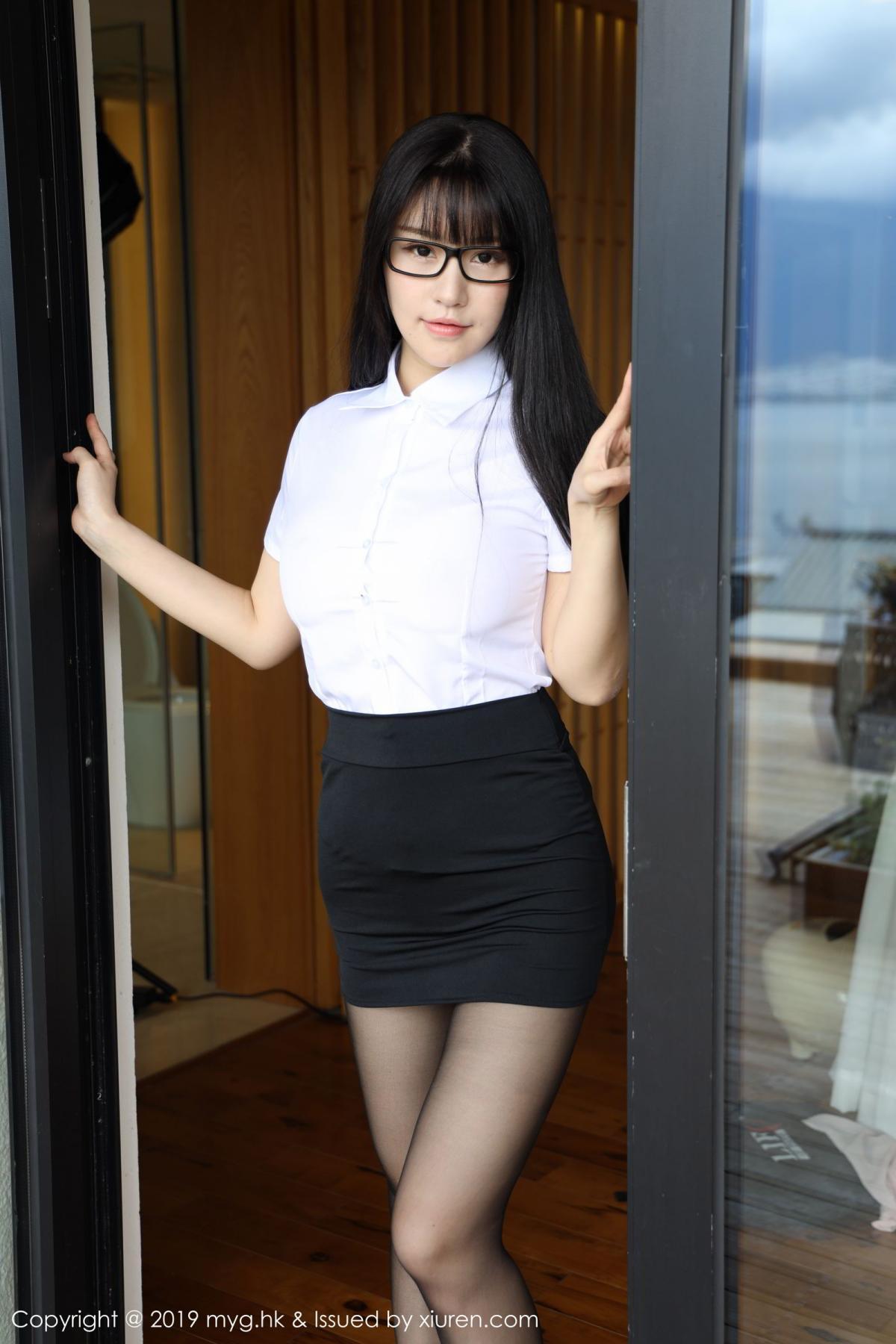 [MyGirl] Vol.368 Zhu Ke Er 64P, Black Silk, mygirl, Tall, Uniform, Zhu Ke Er