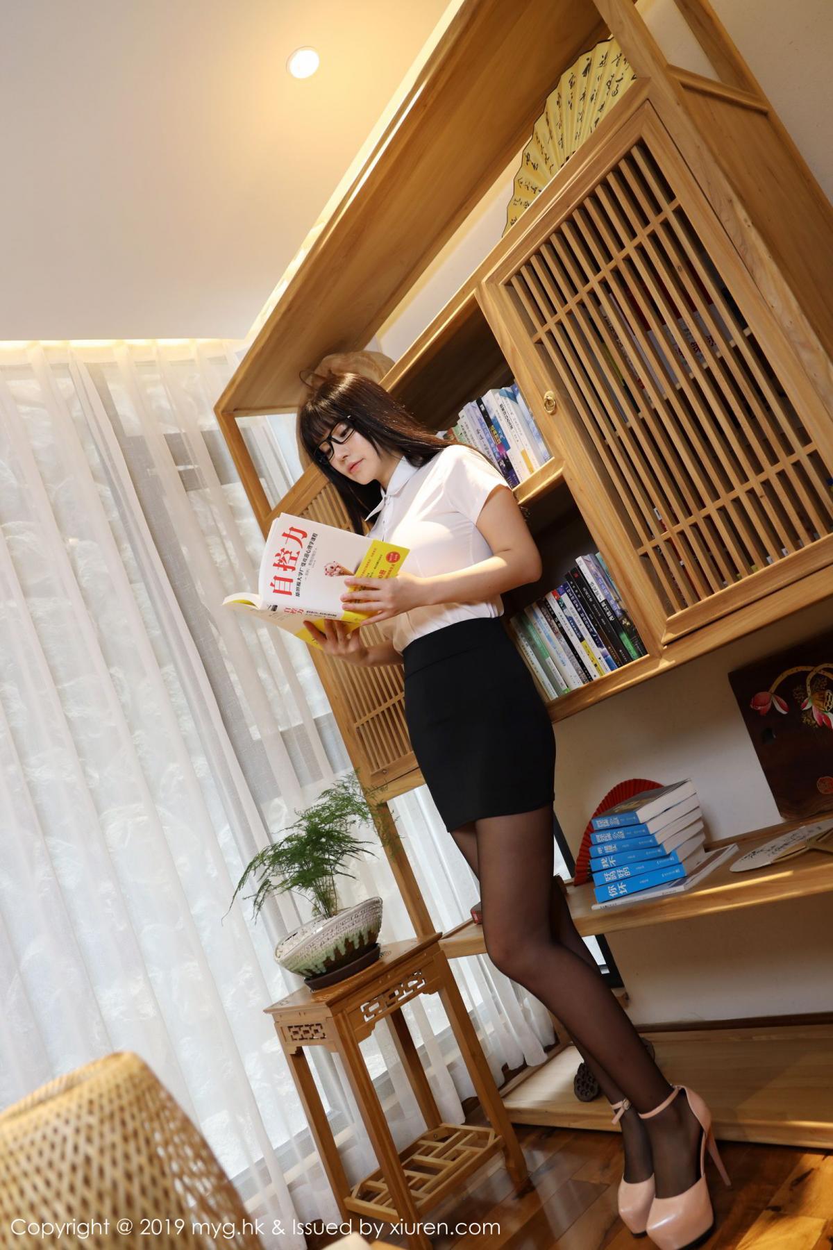 [MyGirl] Vol.368 Zhu Ke Er 71P, Black Silk, mygirl, Tall, Uniform, Zhu Ke Er