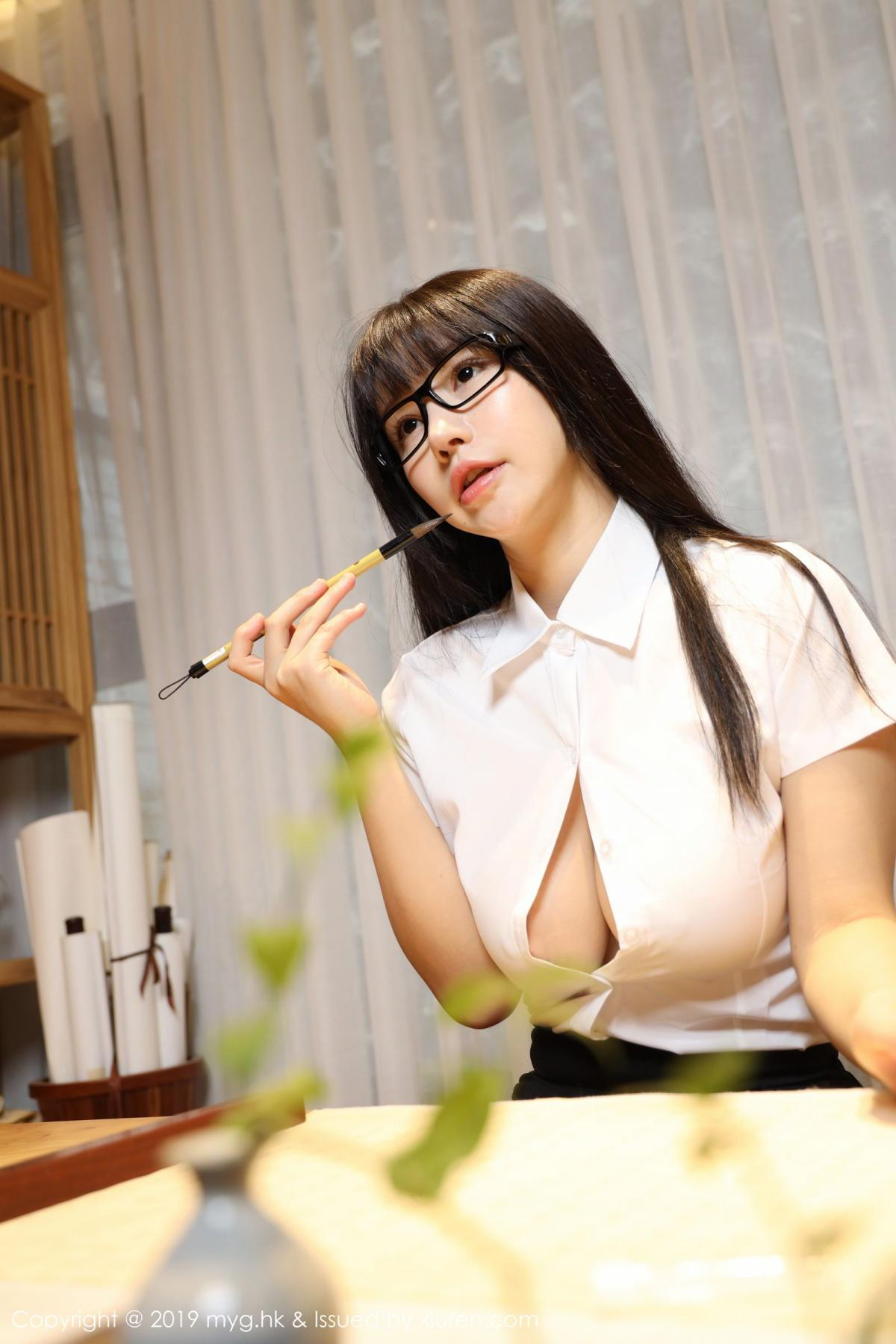 [MyGirl] Vol.368 Zhu Ke Er 80P, Black Silk, mygirl, Tall, Uniform, Zhu Ke Er