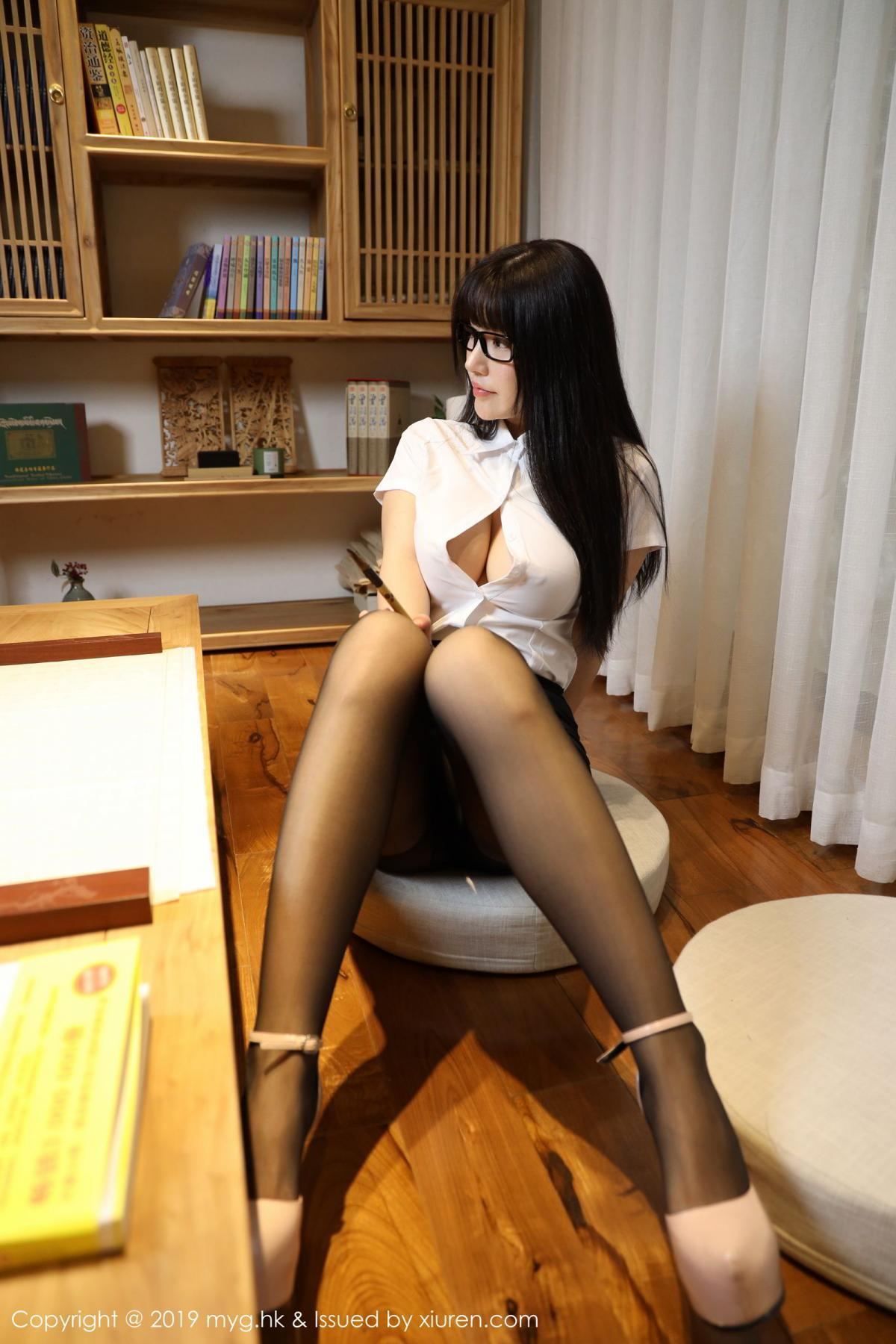 [MyGirl] Vol.368 Zhu Ke Er 81P, Black Silk, mygirl, Tall, Uniform, Zhu Ke Er