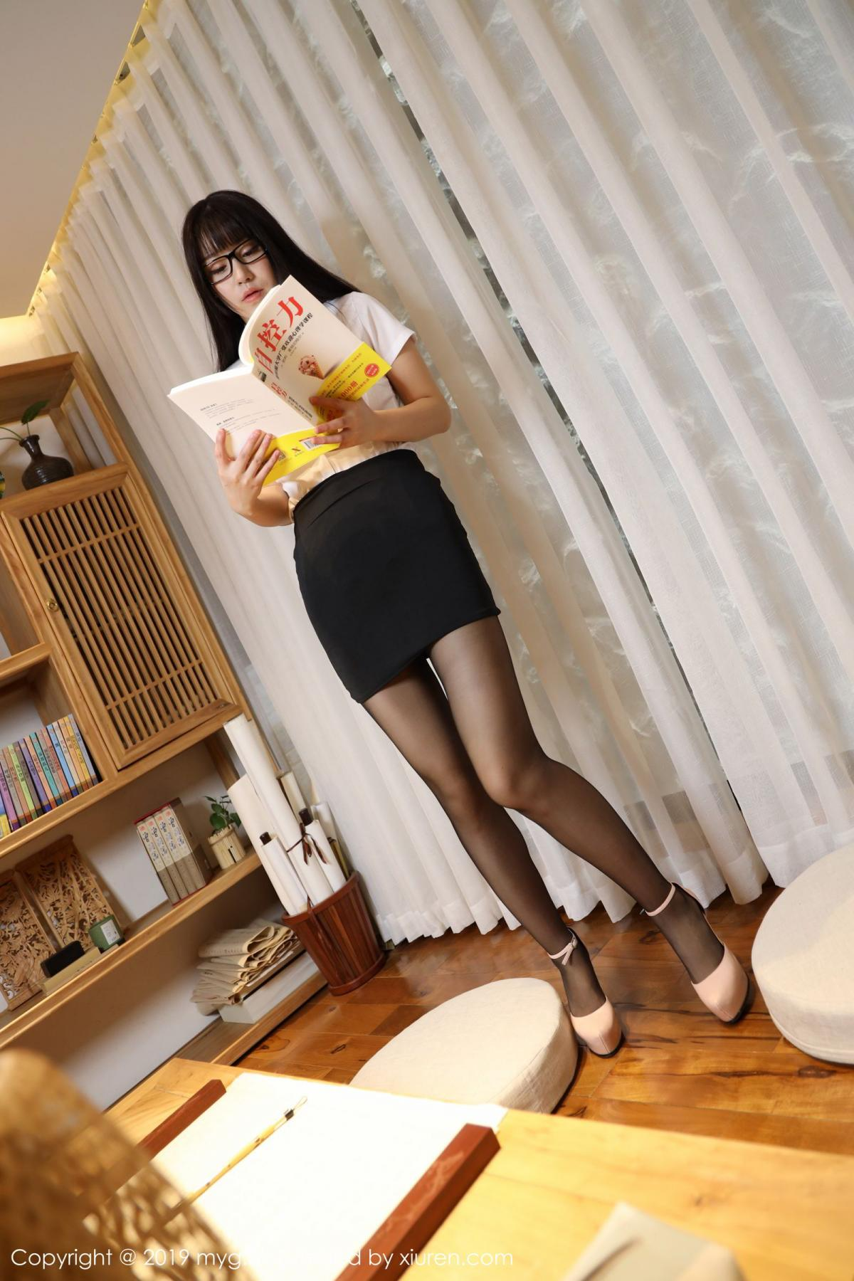[MyGirl] Vol.368 Zhu Ke Er 86P, Black Silk, mygirl, Tall, Uniform, Zhu Ke Er
