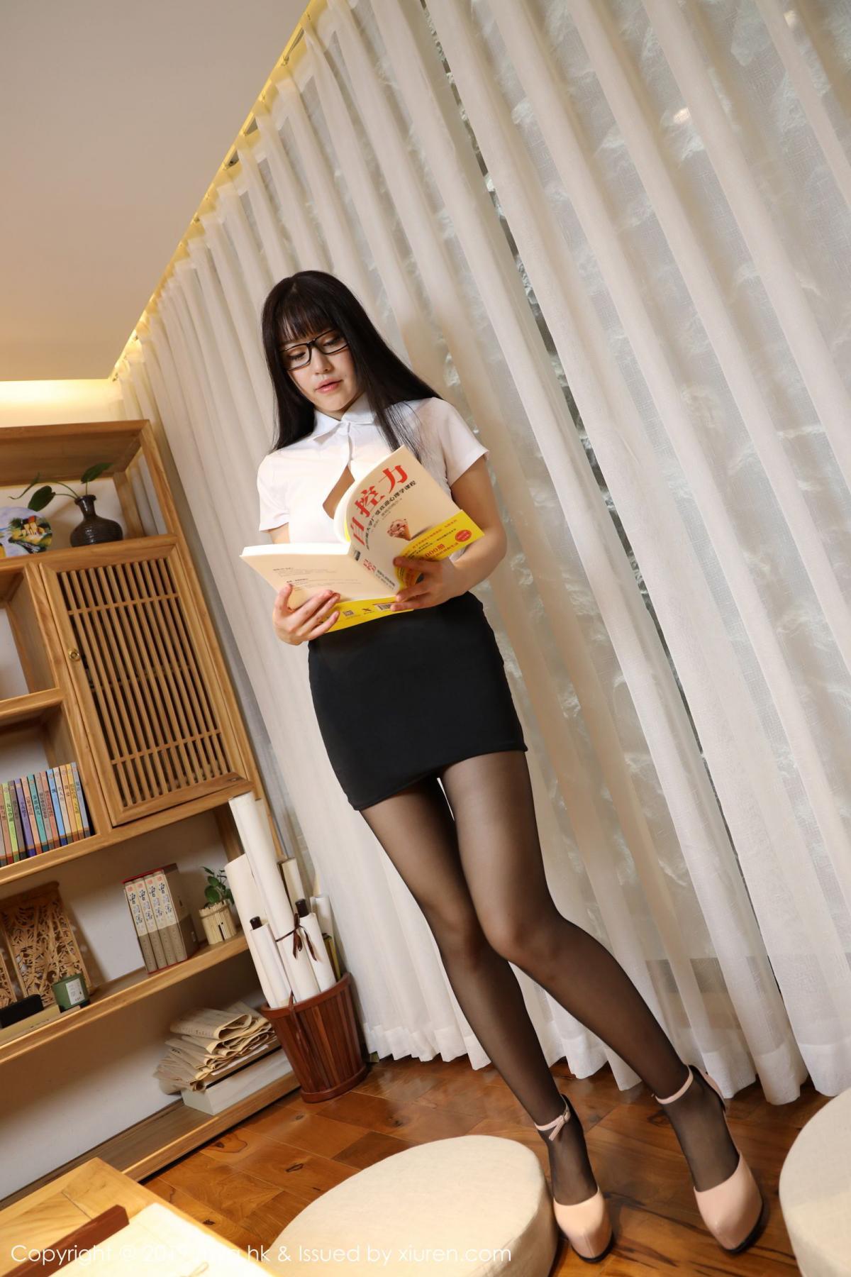 [MyGirl] Vol.368 Zhu Ke Er 87P, Black Silk, mygirl, Tall, Uniform, Zhu Ke Er