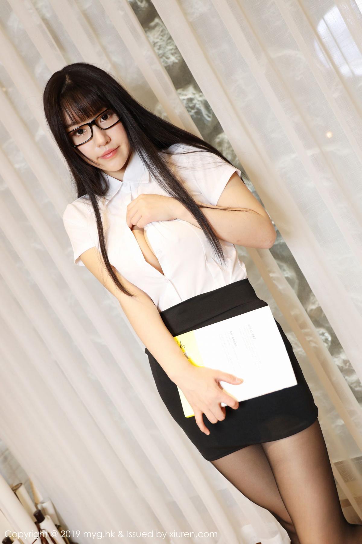 [MyGirl] Vol.368 Zhu Ke Er 91P, Black Silk, mygirl, Tall, Uniform, Zhu Ke Er
