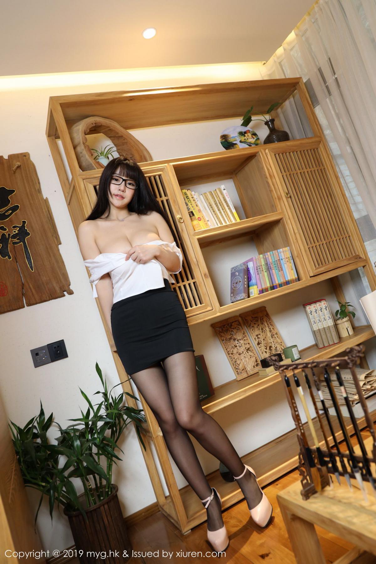 [MyGirl] Vol.368 Zhu Ke Er 92P, Black Silk, mygirl, Tall, Uniform, Zhu Ke Er