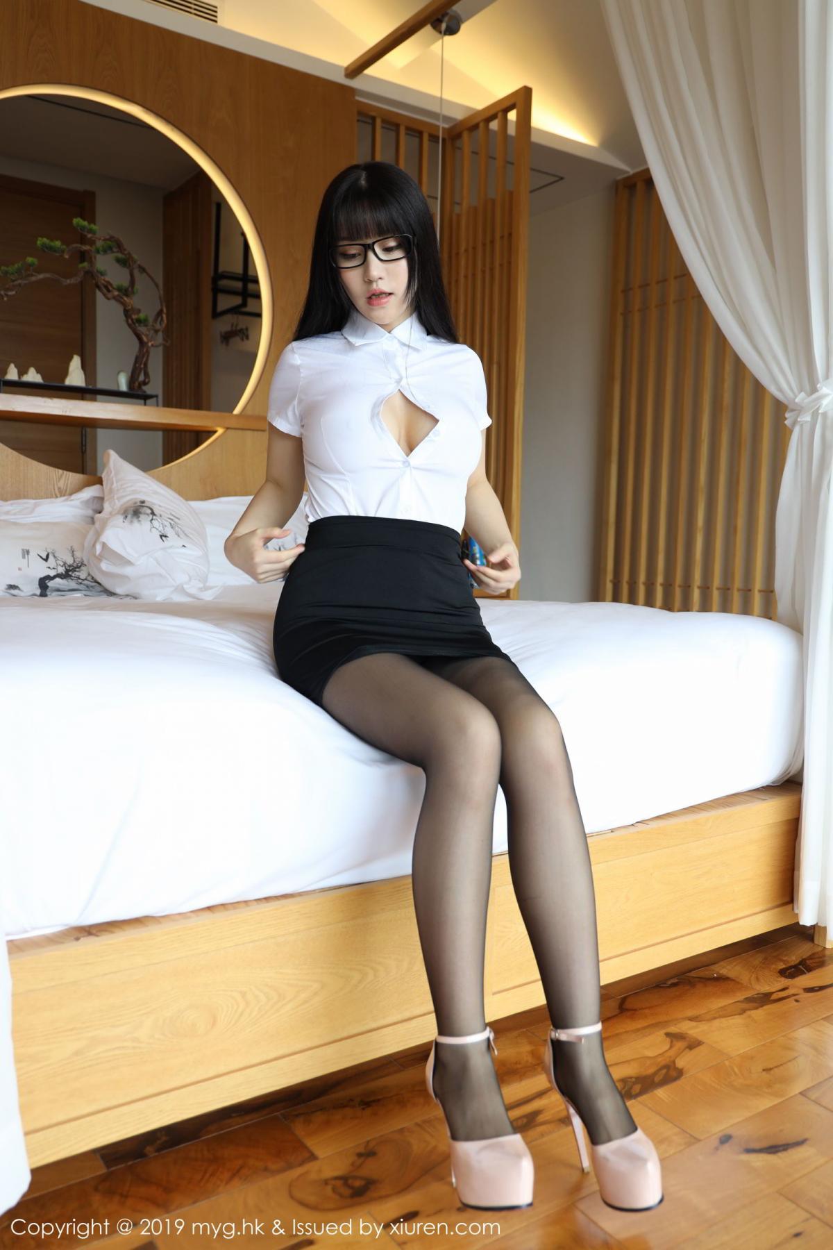 [MyGirl] Vol.368 Zhu Ke Er 9P, Black Silk, mygirl, Tall, Uniform, Zhu Ke Er