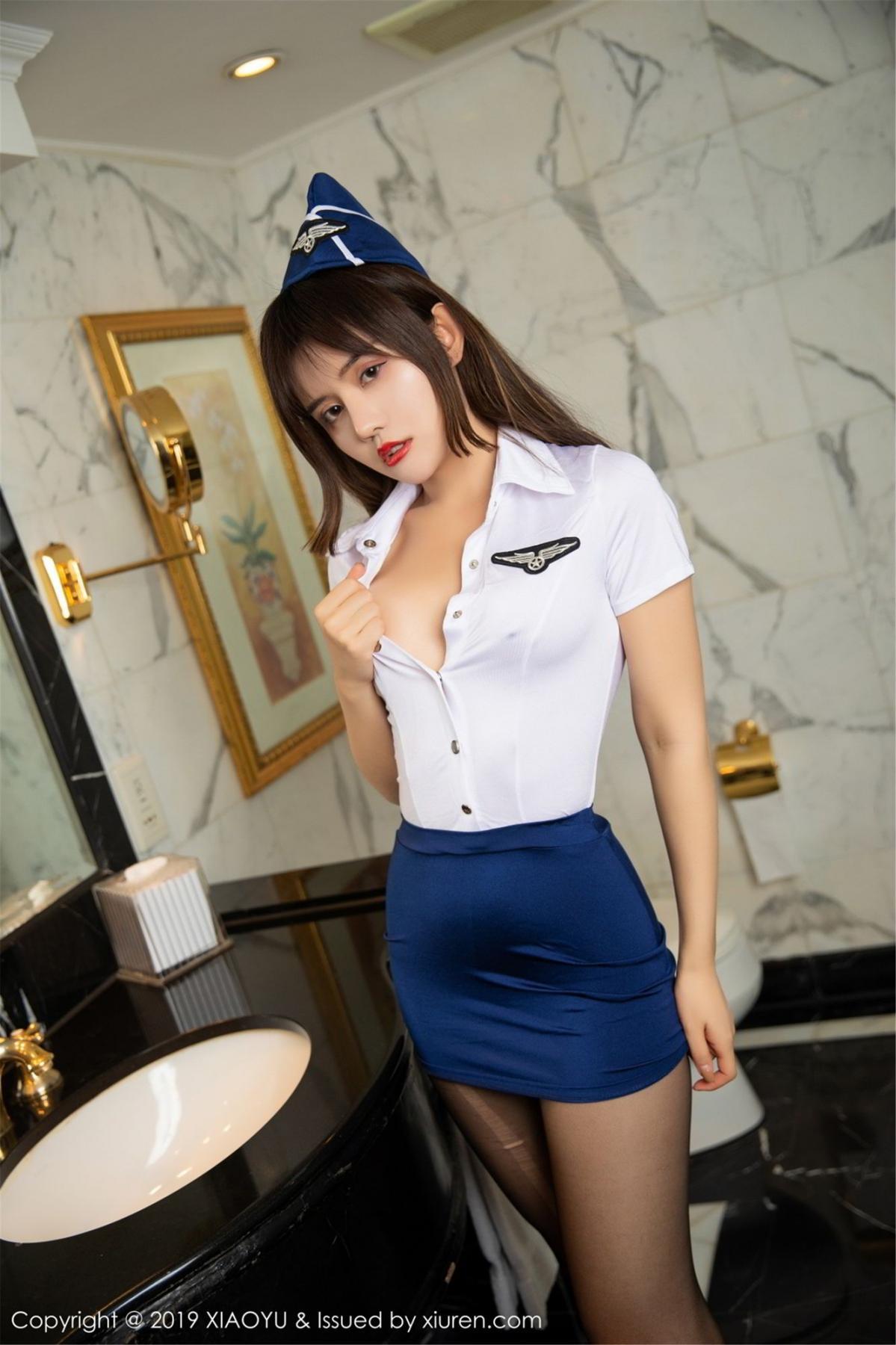 [XIAOYU] Vol.117 Zhuo Ya Qi 39P, Black Silk, Stewardess, Tall, XiaoYu, Zhuo Ya Qi