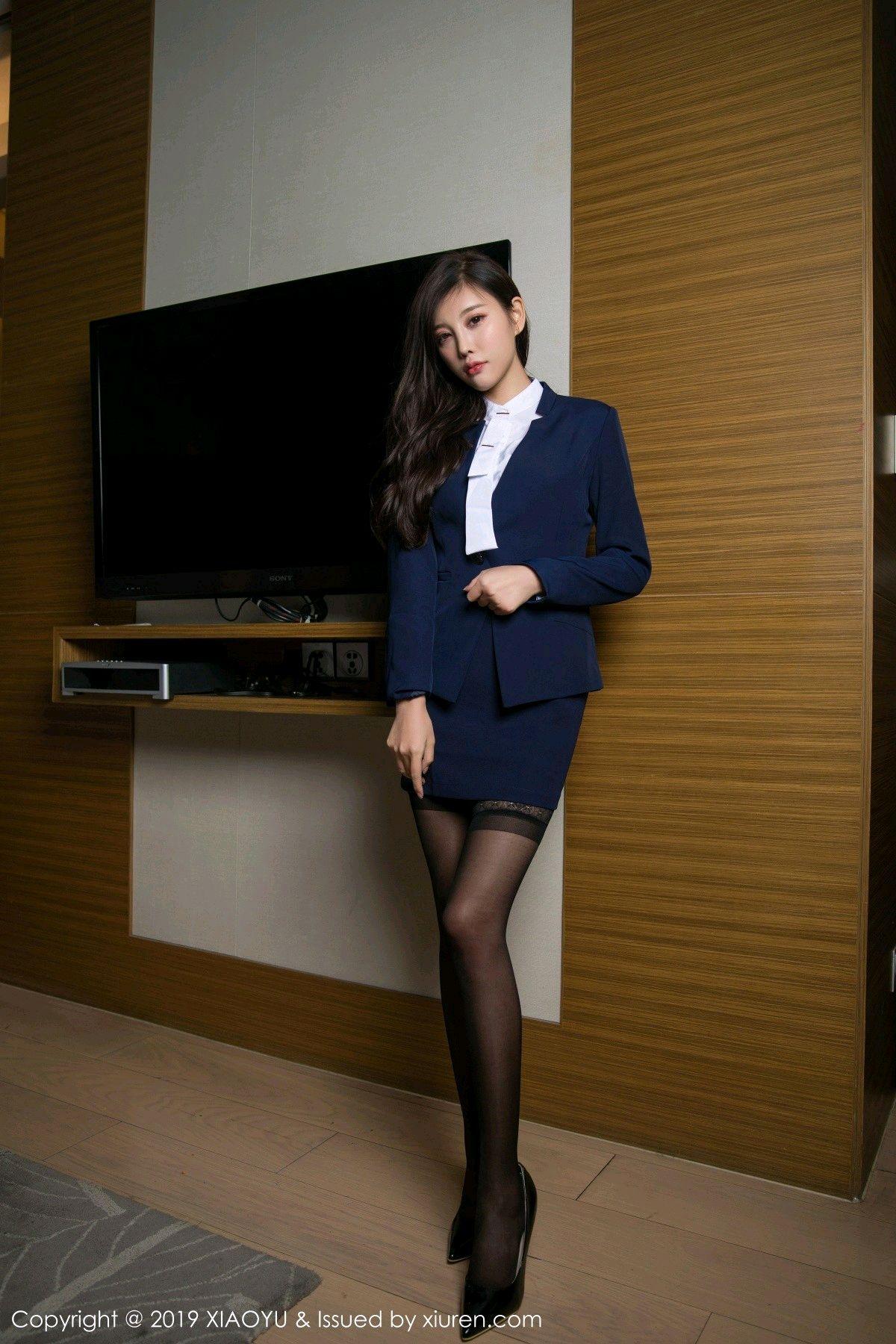 [XiaoYu] Vol.005 Yang Chen Chen 1P, Black Silk, Tall, Uniform, XiaoYu, Yang Chen Chen