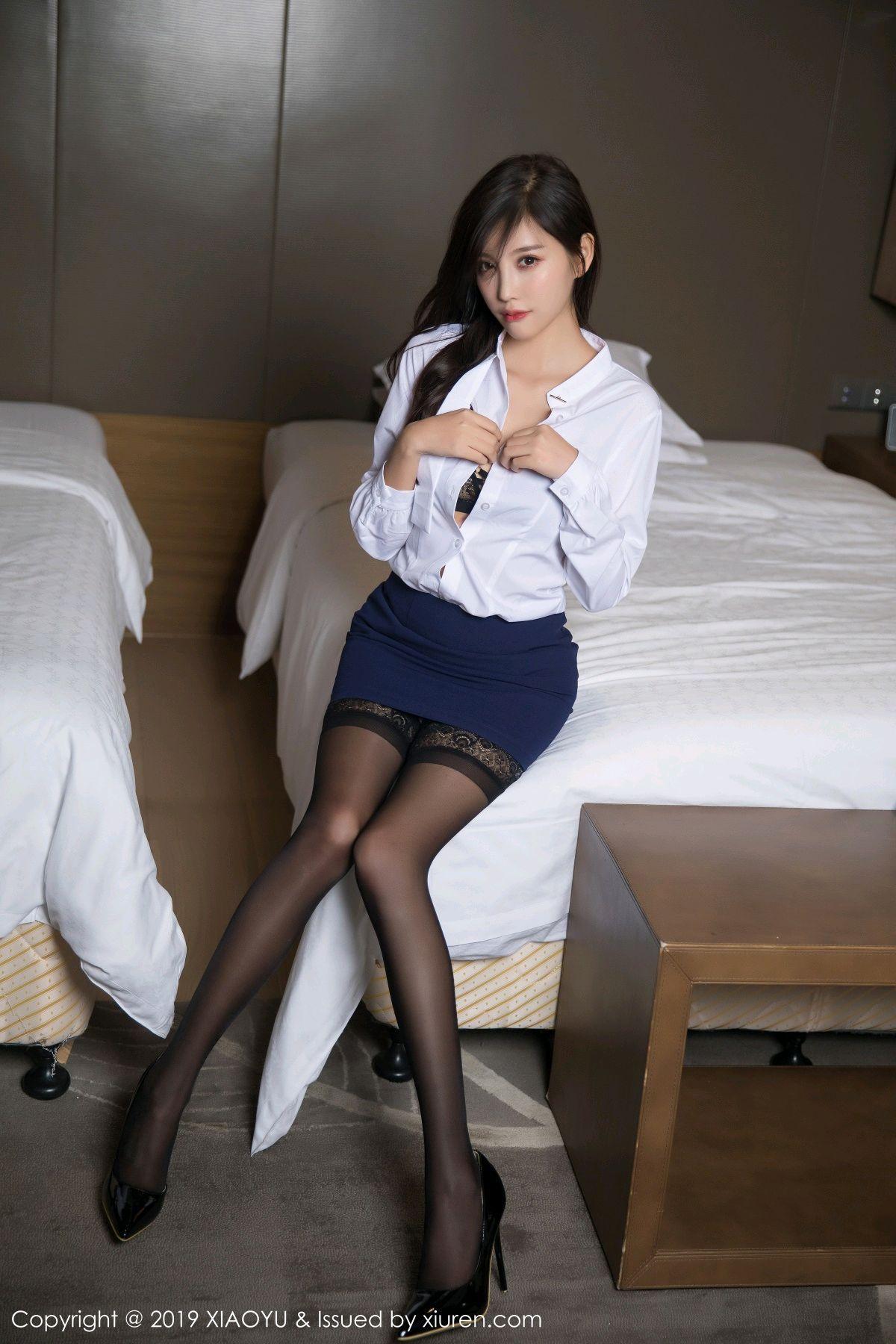 [XiaoYu] Vol.005 Yang Chen Chen 24P, Black Silk, Tall, Uniform, XiaoYu, Yang Chen Chen