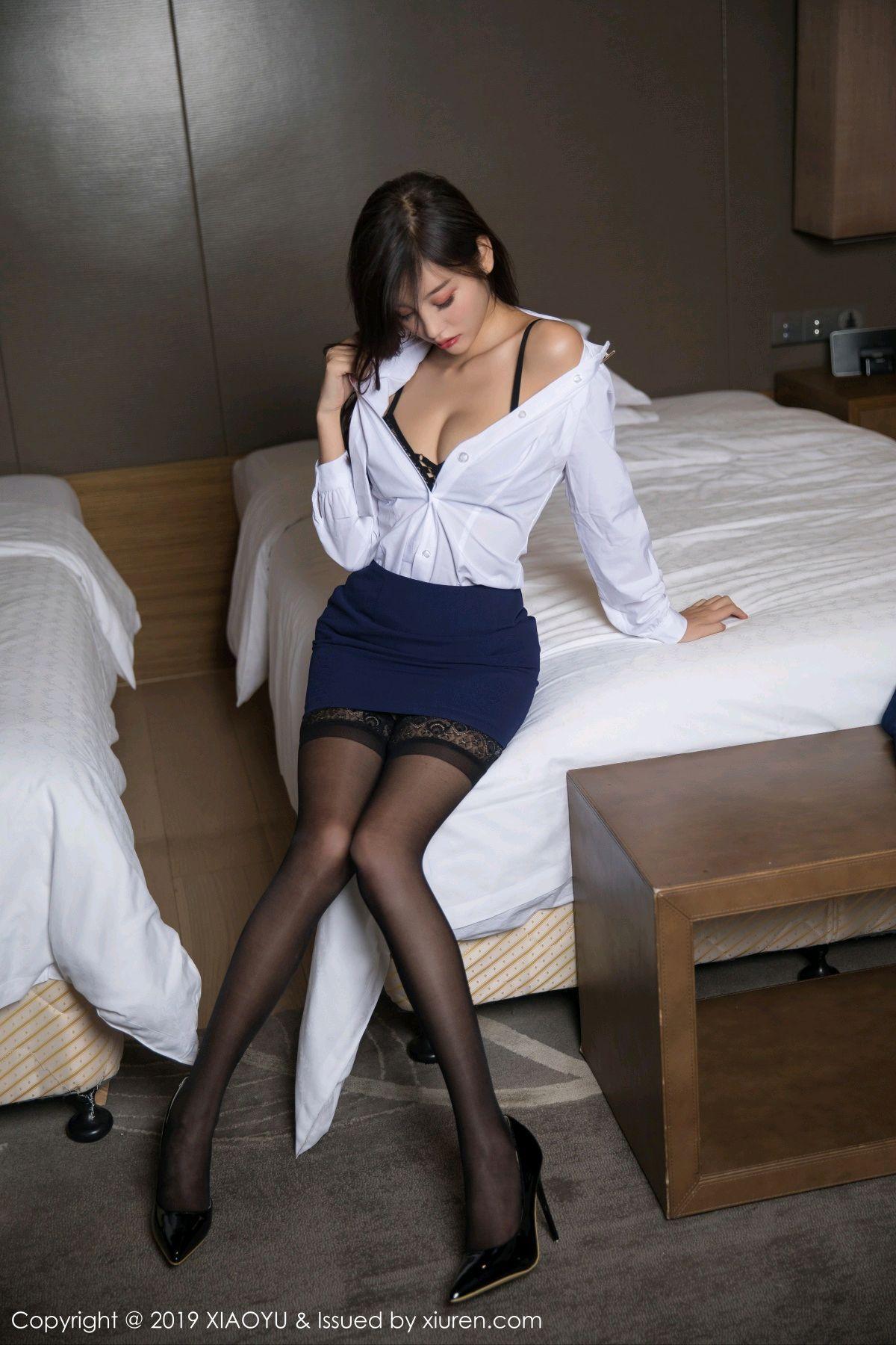 [XiaoYu] Vol.005 Yang Chen Chen 25P, Black Silk, Tall, Uniform, XiaoYu, Yang Chen Chen
