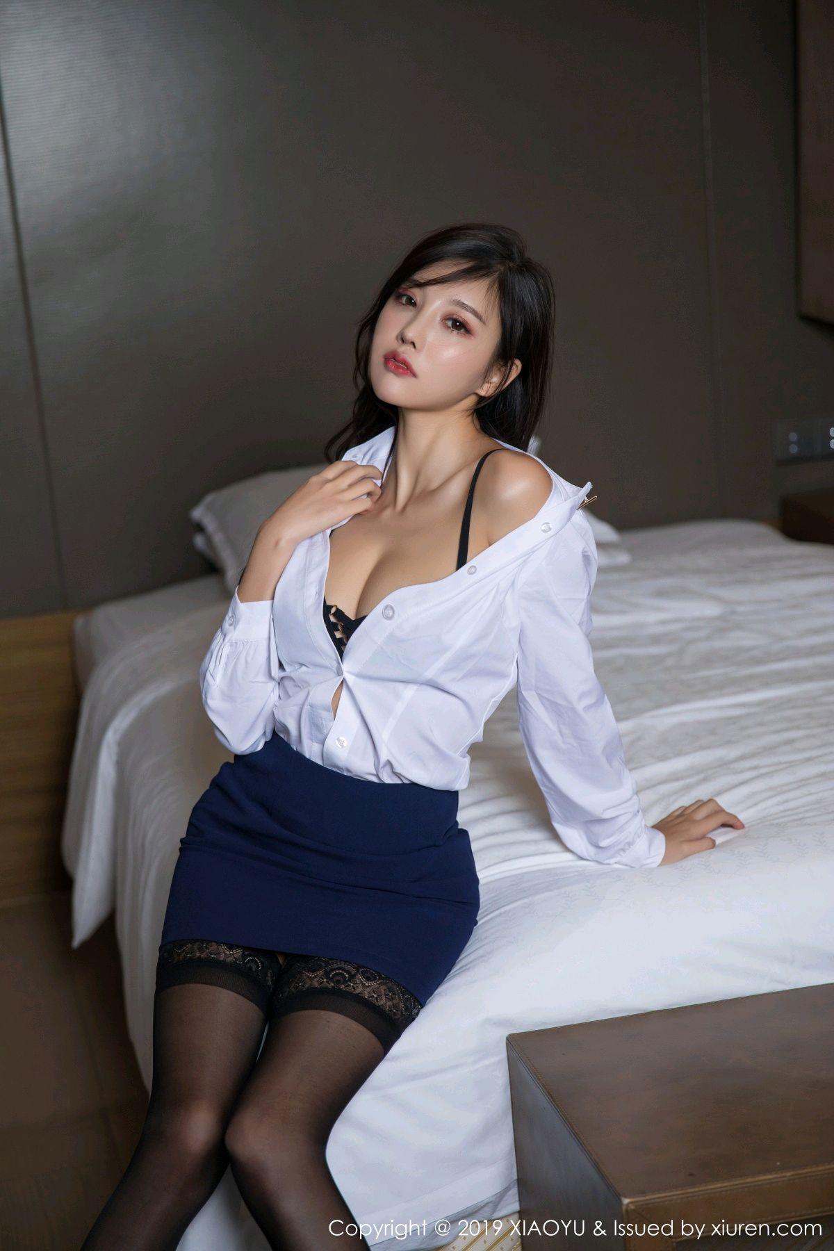 [XiaoYu] Vol.005 Yang Chen Chen 26P, Black Silk, Tall, Uniform, XiaoYu, Yang Chen Chen