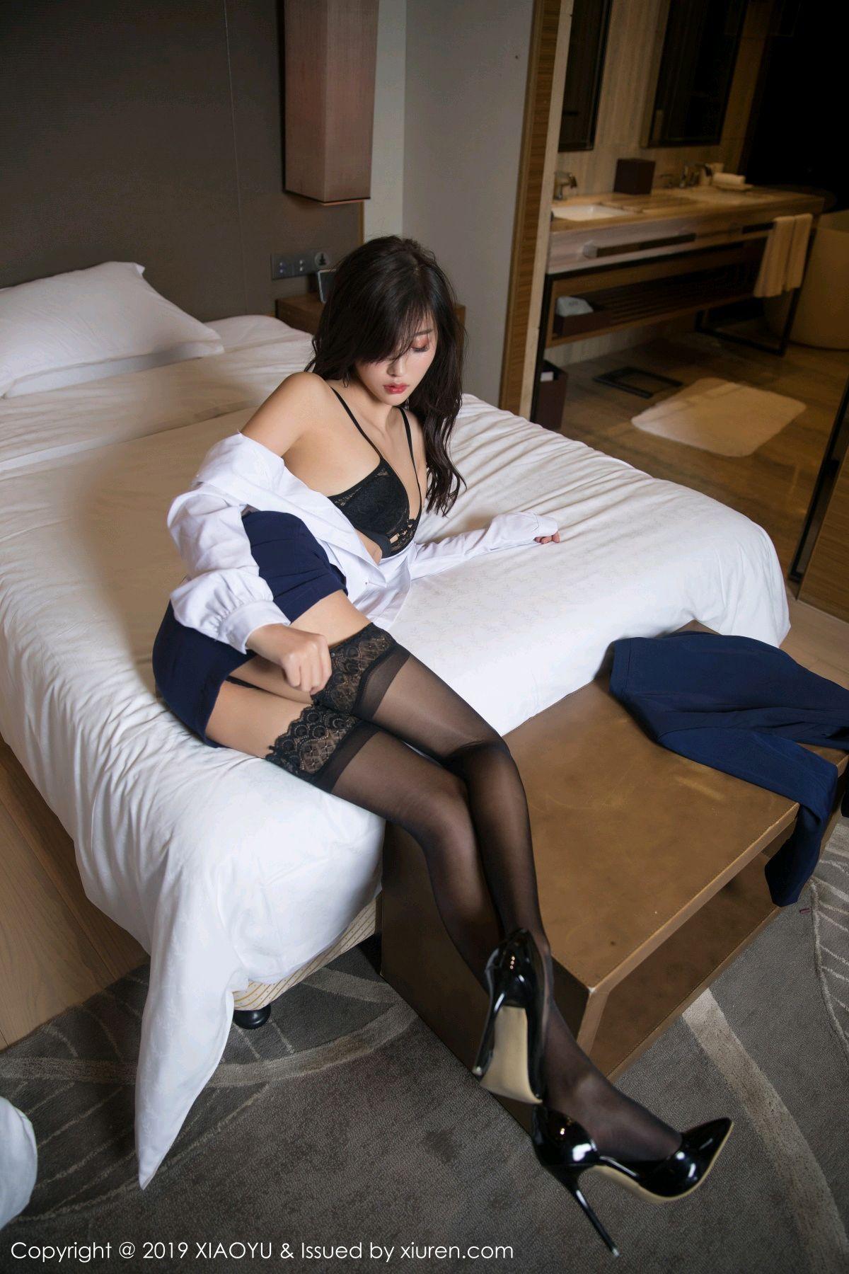 [XiaoYu] Vol.005 Yang Chen Chen 39P, Black Silk, Tall, Uniform, XiaoYu, Yang Chen Chen