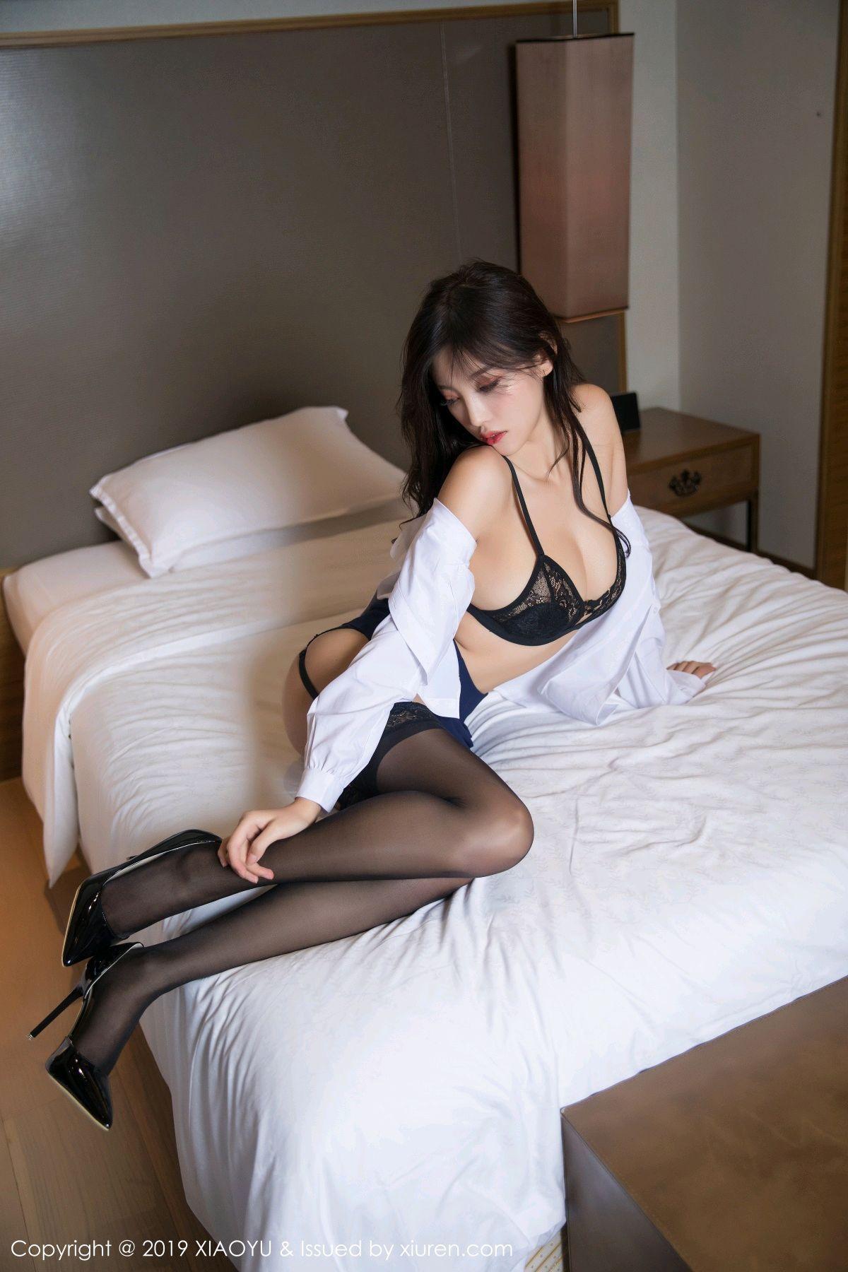 [XiaoYu] Vol.005 Yang Chen Chen 44P, Black Silk, Tall, Uniform, XiaoYu, Yang Chen Chen