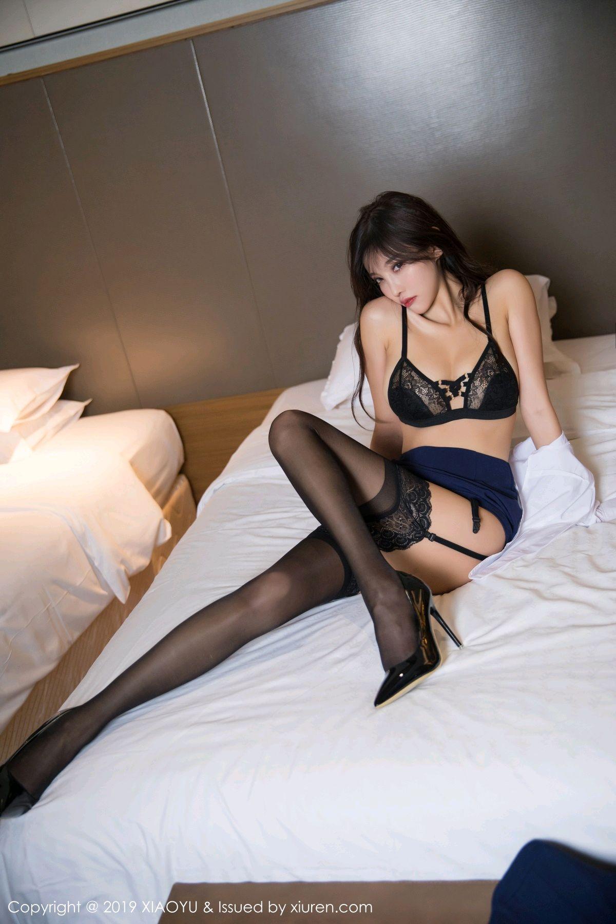 [XiaoYu] Vol.005 Yang Chen Chen 49P, Black Silk, Tall, Uniform, XiaoYu, Yang Chen Chen