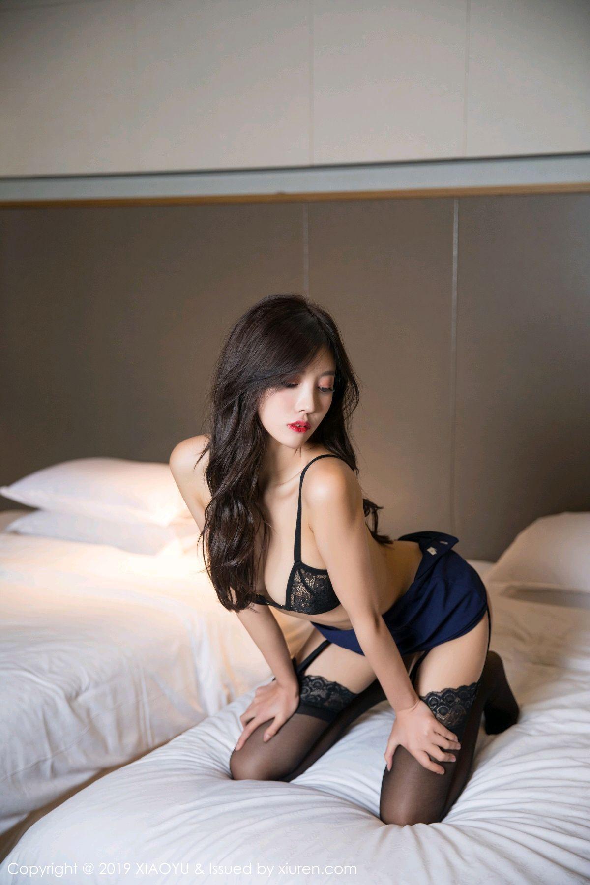 [XiaoYu] Vol.005 Yang Chen Chen 54P, Black Silk, Tall, Uniform, XiaoYu, Yang Chen Chen