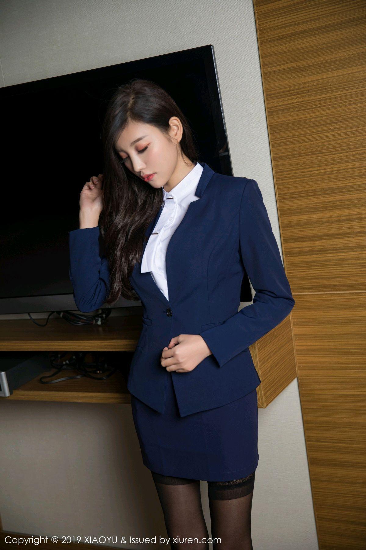 [XiaoYu] Vol.005 Yang Chen Chen 6P, Black Silk, Tall, Uniform, XiaoYu, Yang Chen Chen