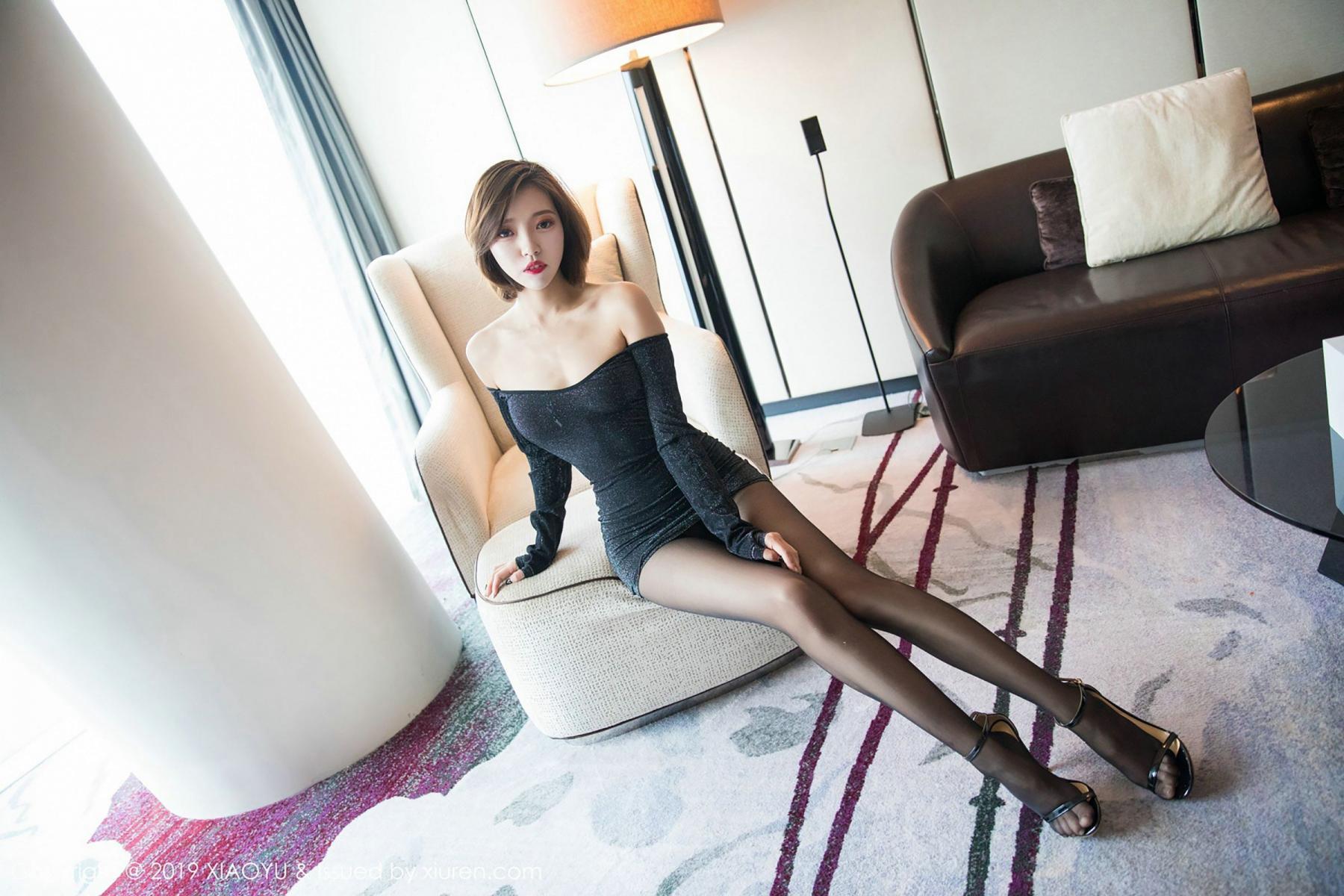 [XiaoYu] Vol.006 Feng Mu Mu 11P, Black Silk, Feng Mu Mu, Tall, XiaoYu