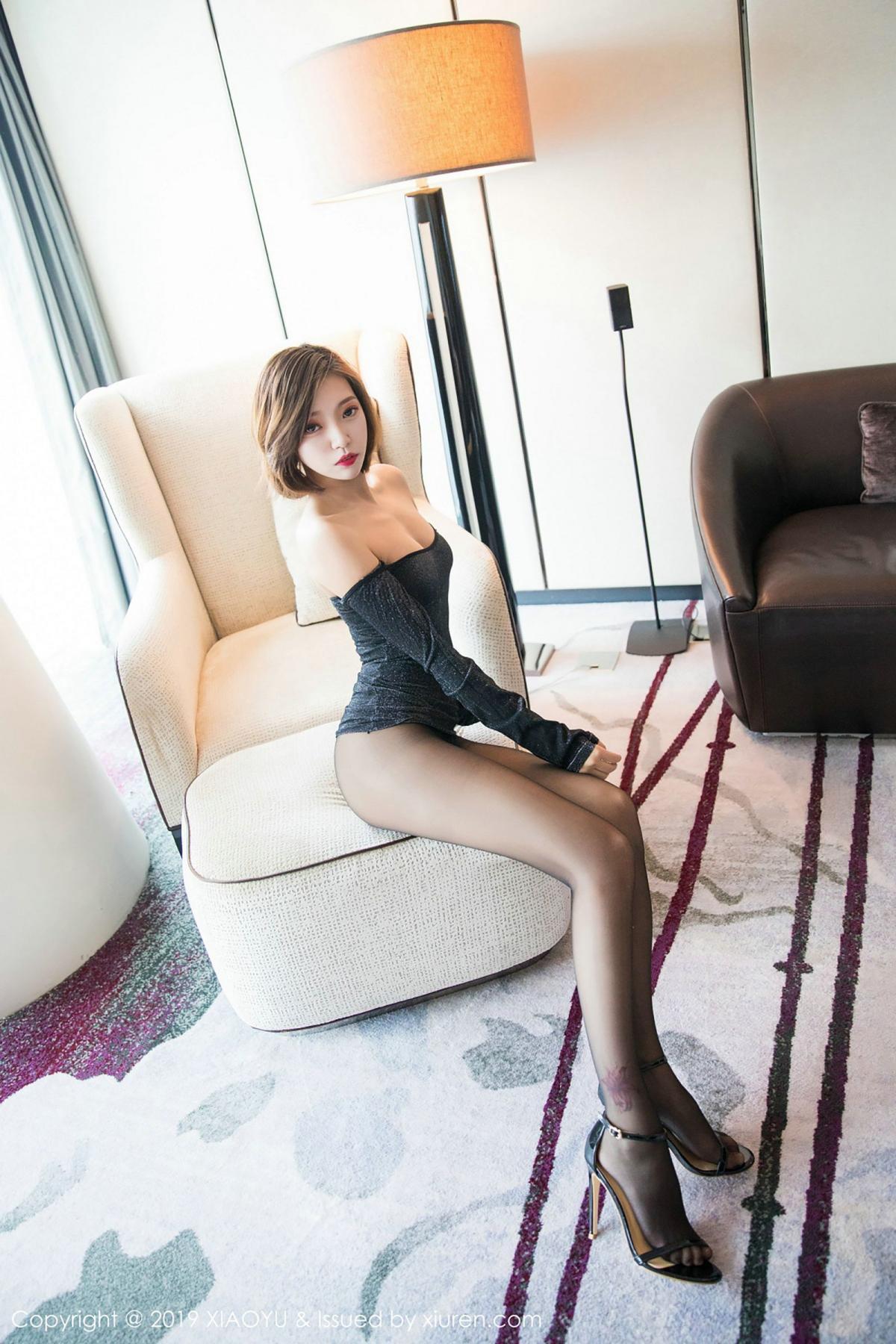 [XiaoYu] Vol.006 Feng Mu Mu 14P, Black Silk, Feng Mu Mu, Tall, XiaoYu