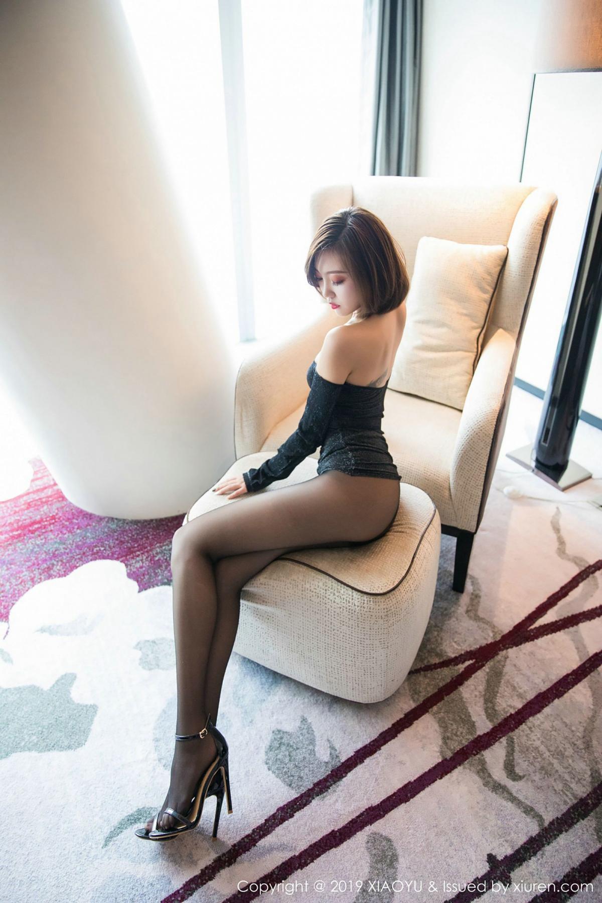 [XiaoYu] Vol.006 Feng Mu Mu 18P, Black Silk, Feng Mu Mu, Tall, XiaoYu