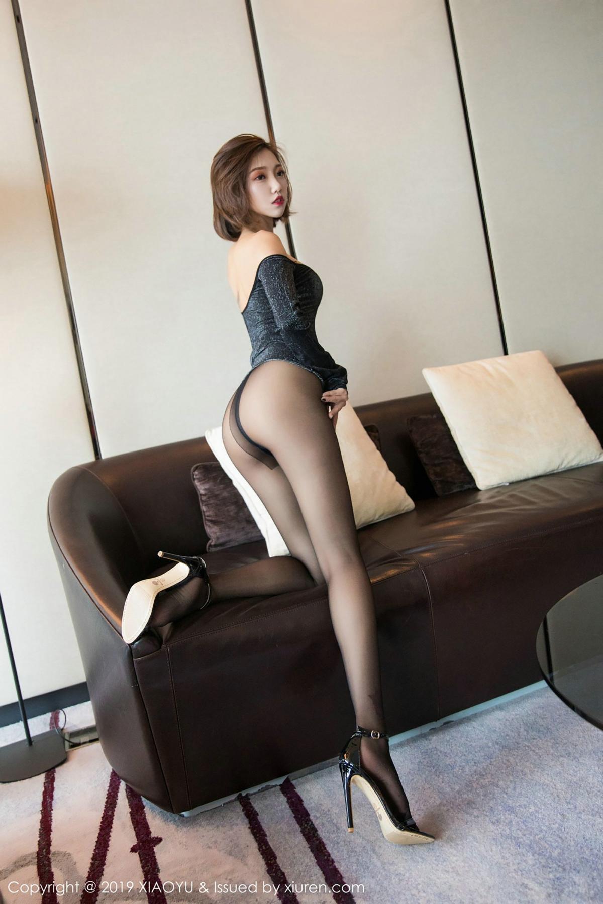 [XiaoYu] Vol.006 Feng Mu Mu 1P, Black Silk, Feng Mu Mu, Tall, XiaoYu