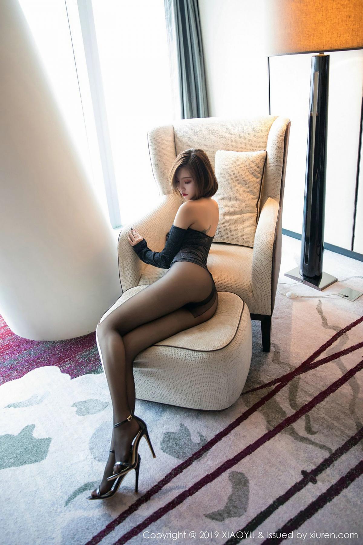 [XiaoYu] Vol.006 Feng Mu Mu 20P, Black Silk, Feng Mu Mu, Tall, XiaoYu