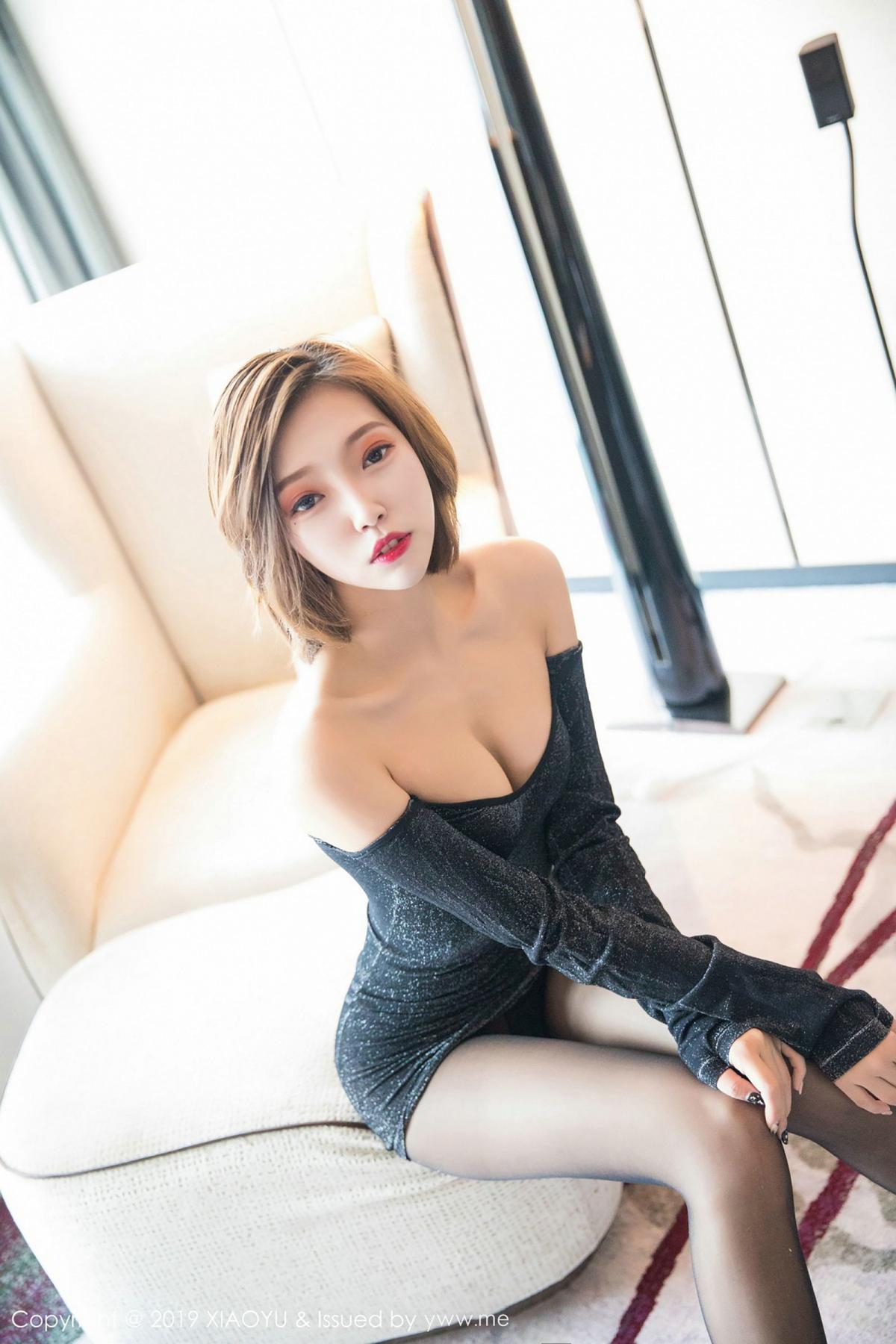 [XiaoYu] Vol.006 Feng Mu Mu 2P, Black Silk, Feng Mu Mu, Tall, XiaoYu