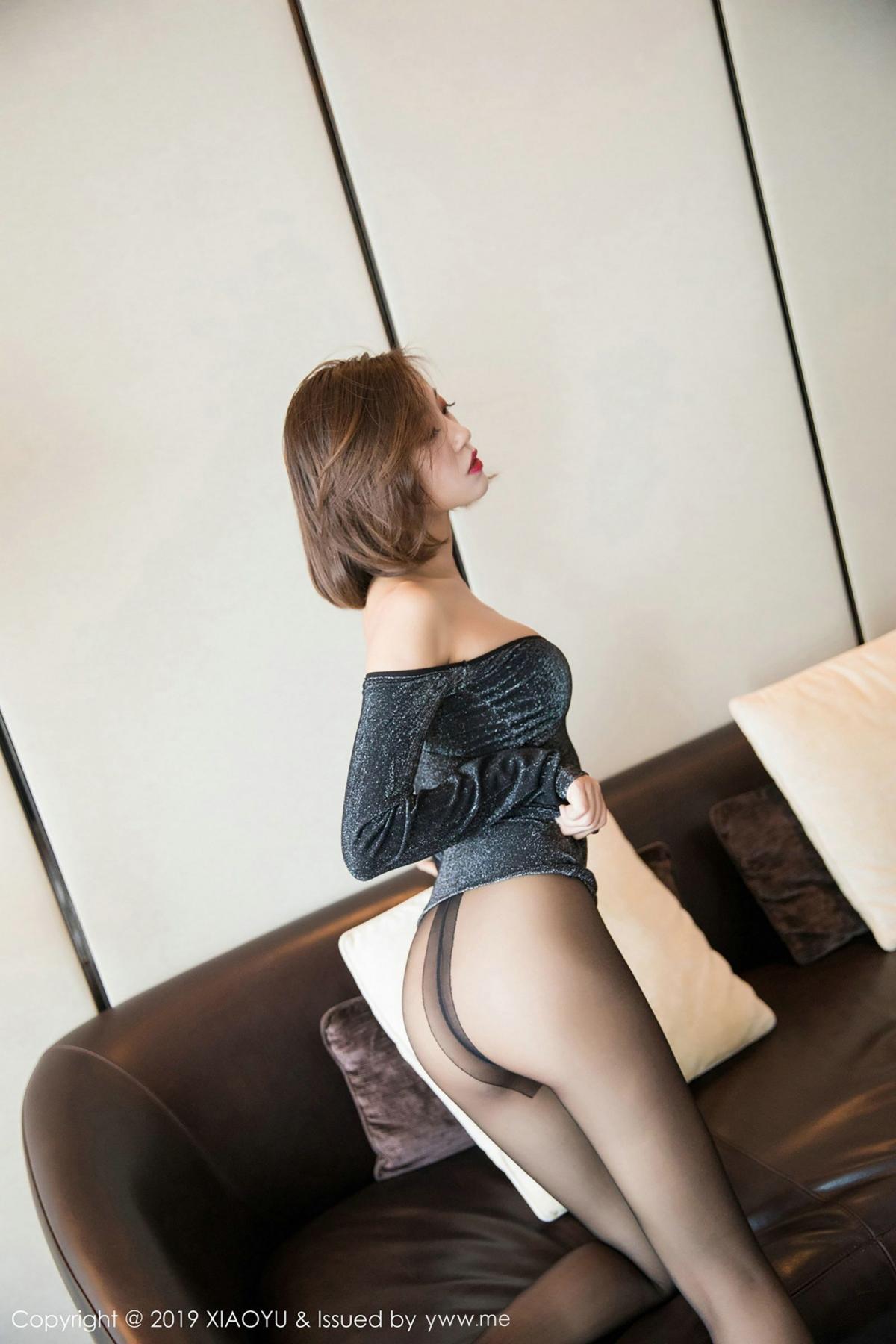 [XiaoYu] Vol.006 Feng Mu Mu 30P, Black Silk, Feng Mu Mu, Tall, XiaoYu