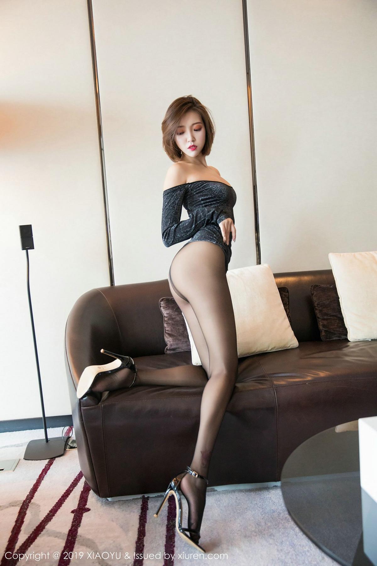 [XiaoYu] Vol.006 Feng Mu Mu 31P, Black Silk, Feng Mu Mu, Tall, XiaoYu