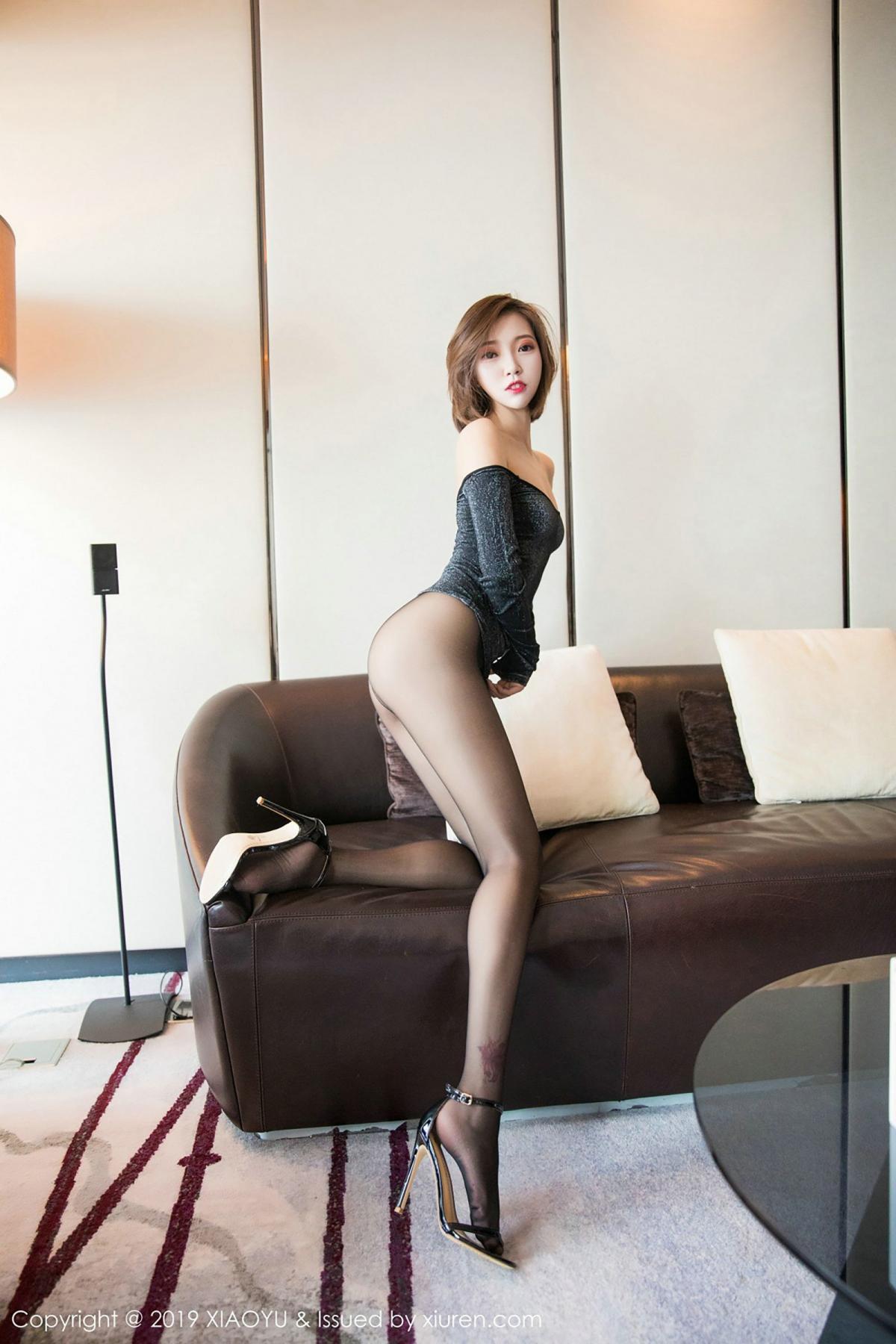 [XiaoYu] Vol.006 Feng Mu Mu 32P, Black Silk, Feng Mu Mu, Tall, XiaoYu