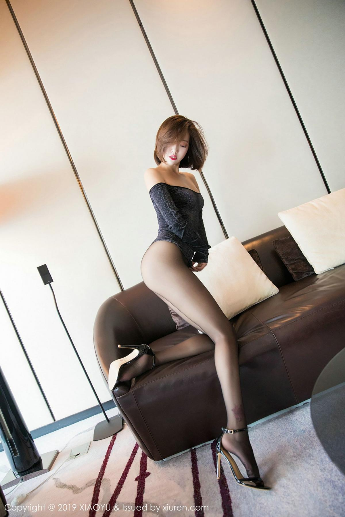 [XiaoYu] Vol.006 Feng Mu Mu 33P, Black Silk, Feng Mu Mu, Tall, XiaoYu