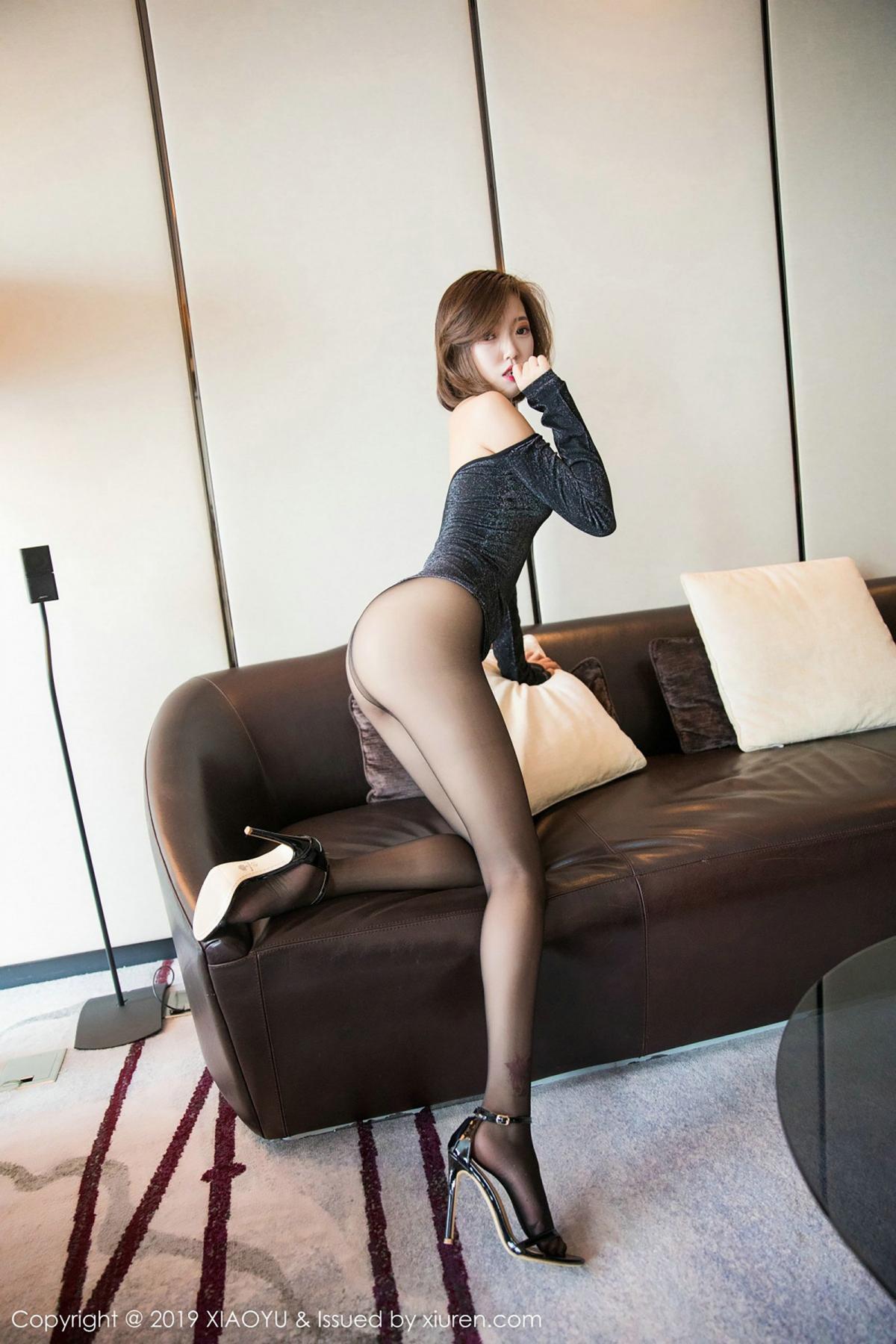[XiaoYu] Vol.006 Feng Mu Mu 35P, Black Silk, Feng Mu Mu, Tall, XiaoYu