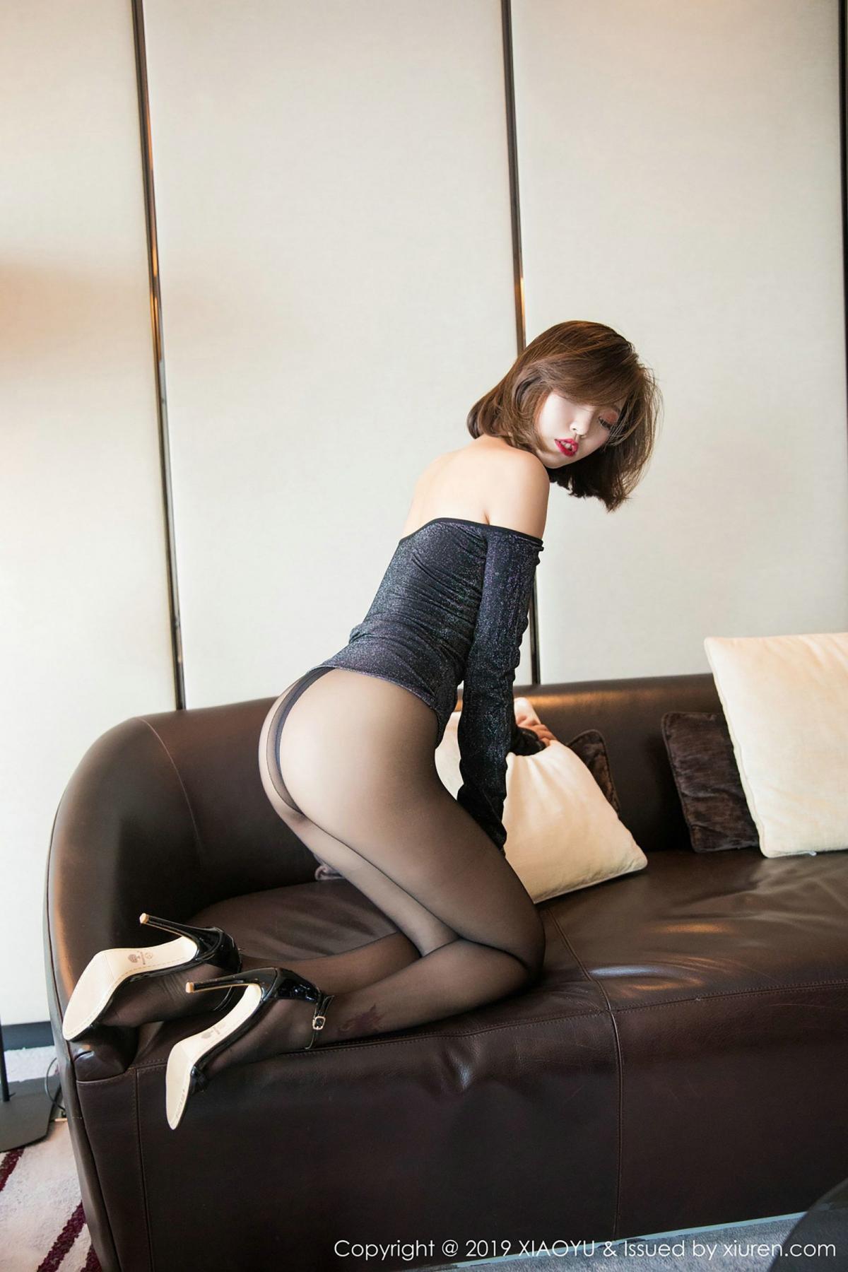 [XiaoYu] Vol.006 Feng Mu Mu 37P, Black Silk, Feng Mu Mu, Tall, XiaoYu