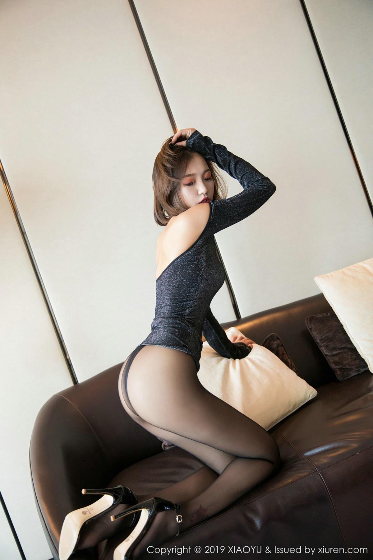 [XiaoYu] Vol.006 Feng Mu Mu 38P, Black Silk, Feng Mu Mu, Tall, XiaoYu