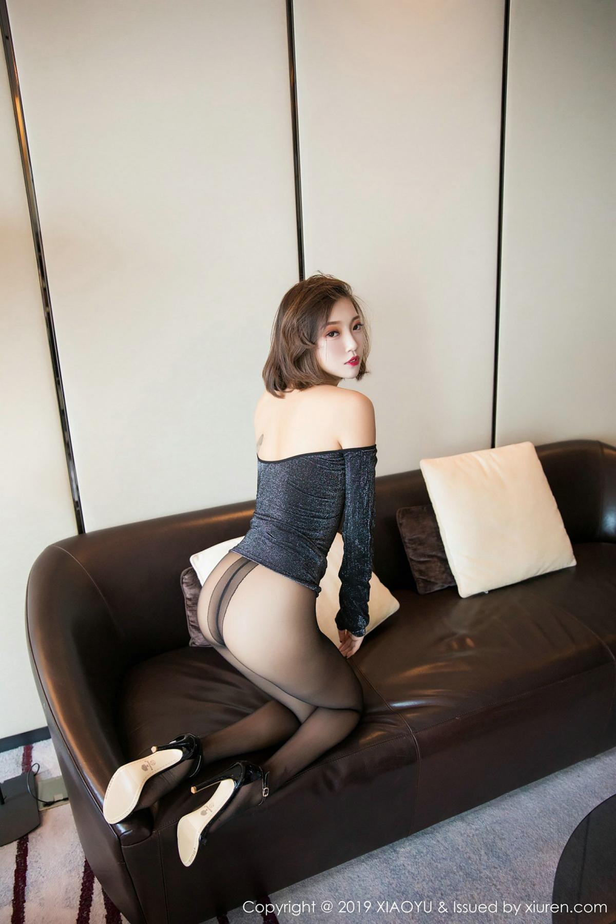 [XiaoYu] Vol.006 Feng Mu Mu 39P, Black Silk, Feng Mu Mu, Tall, XiaoYu