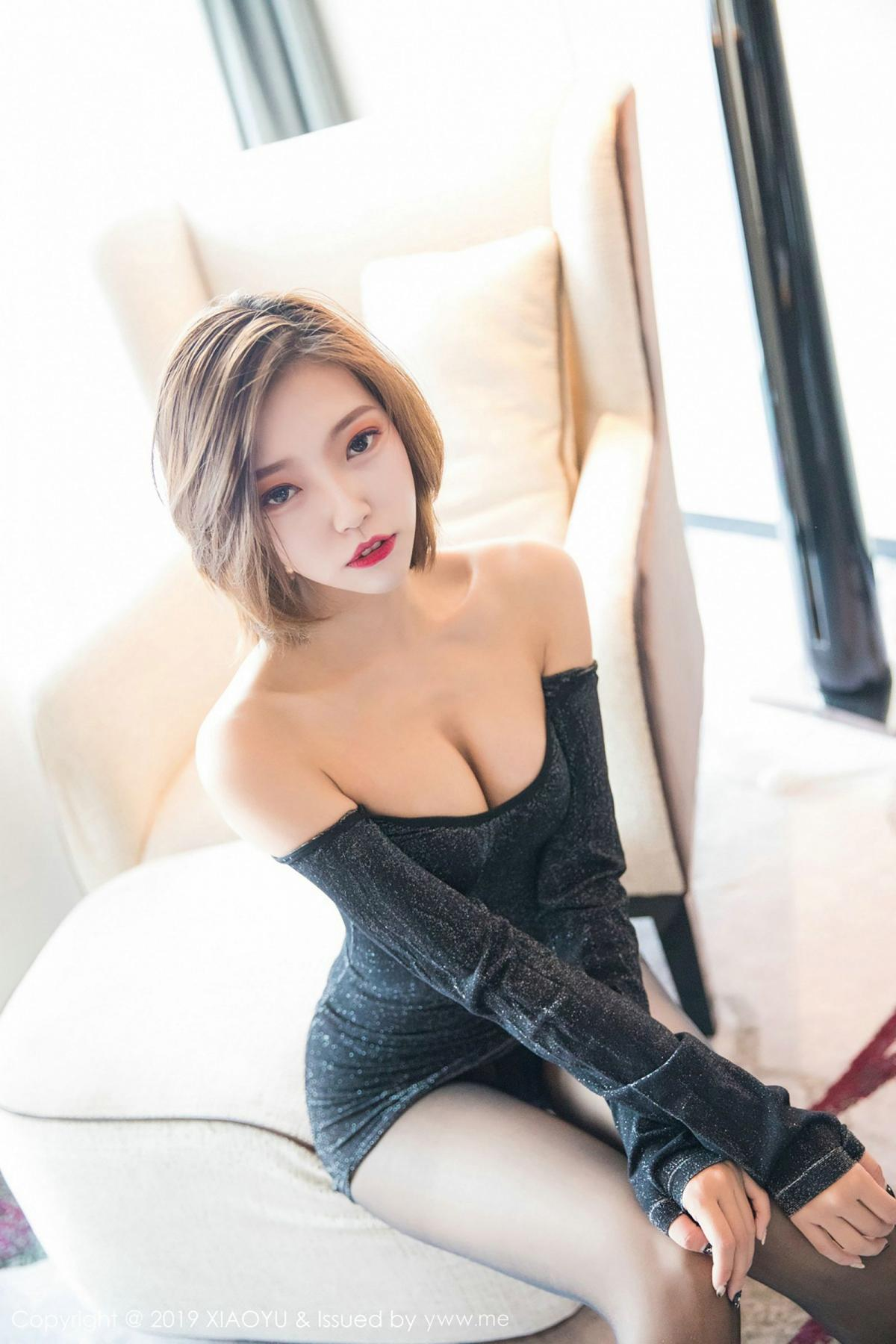 [XiaoYu] Vol.006 Feng Mu Mu 3P, Black Silk, Feng Mu Mu, Tall, XiaoYu
