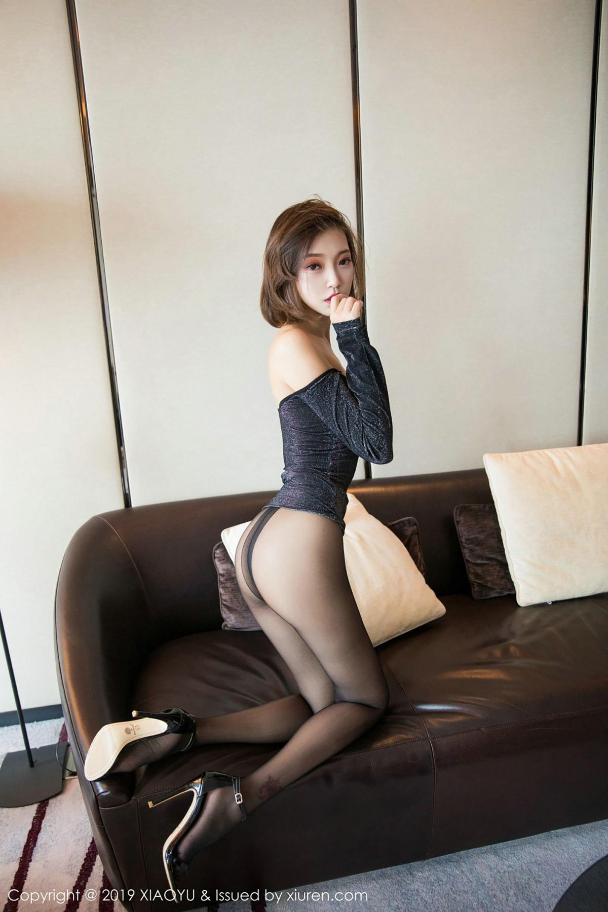 [XiaoYu] Vol.006 Feng Mu Mu 40P, Black Silk, Feng Mu Mu, Tall, XiaoYu