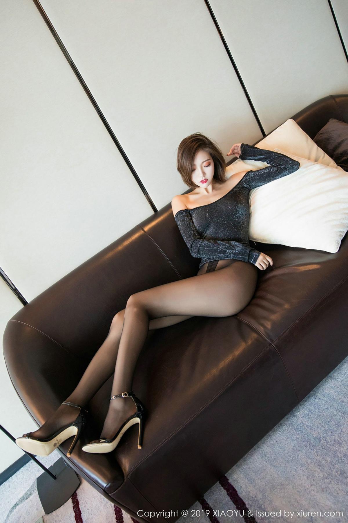 [XiaoYu] Vol.006 Feng Mu Mu 41P, Black Silk, Feng Mu Mu, Tall, XiaoYu