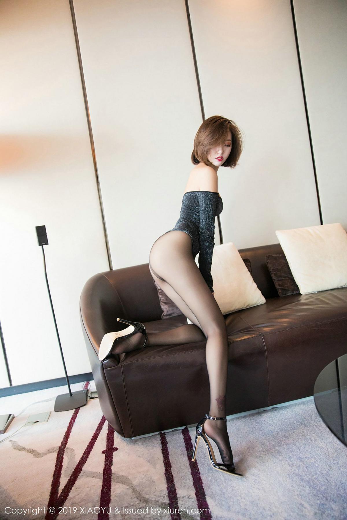 [XiaoYu] Vol.006 Feng Mu Mu 45P, Black Silk, Feng Mu Mu, Tall, XiaoYu