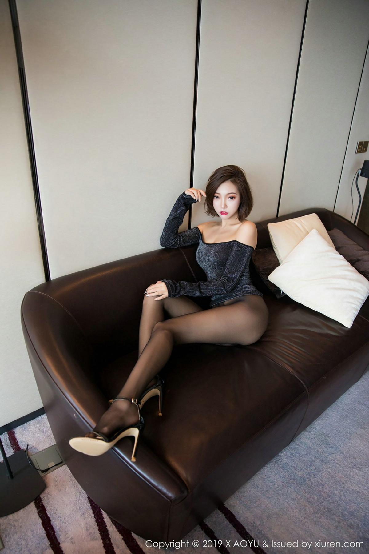 [XiaoYu] Vol.006 Feng Mu Mu 48P, Black Silk, Feng Mu Mu, Tall, XiaoYu