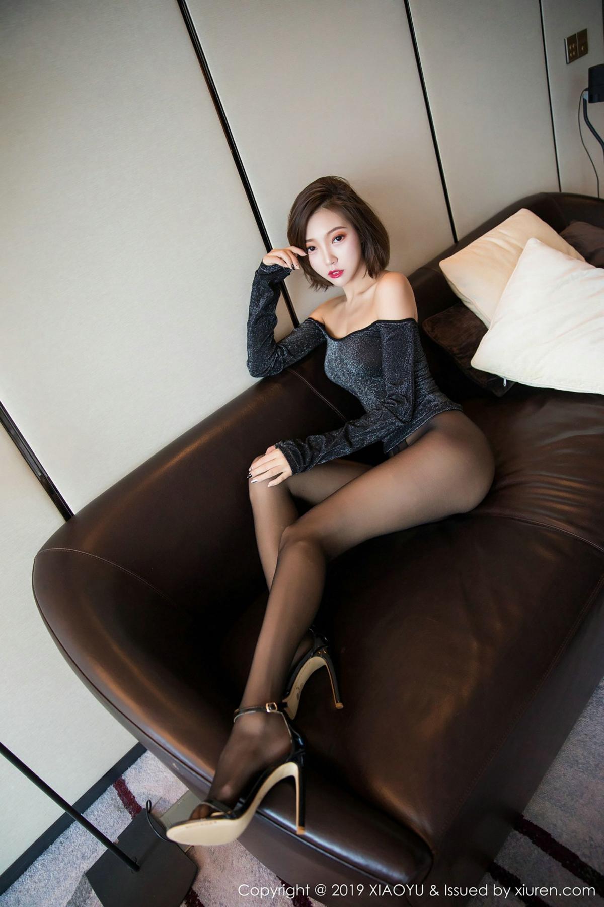 [XiaoYu] Vol.006 Feng Mu Mu 49P, Black Silk, Feng Mu Mu, Tall, XiaoYu