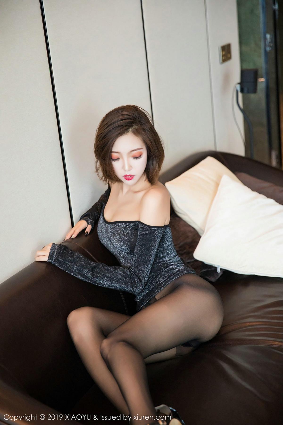 [XiaoYu] Vol.006 Feng Mu Mu 50P, Black Silk, Feng Mu Mu, Tall, XiaoYu