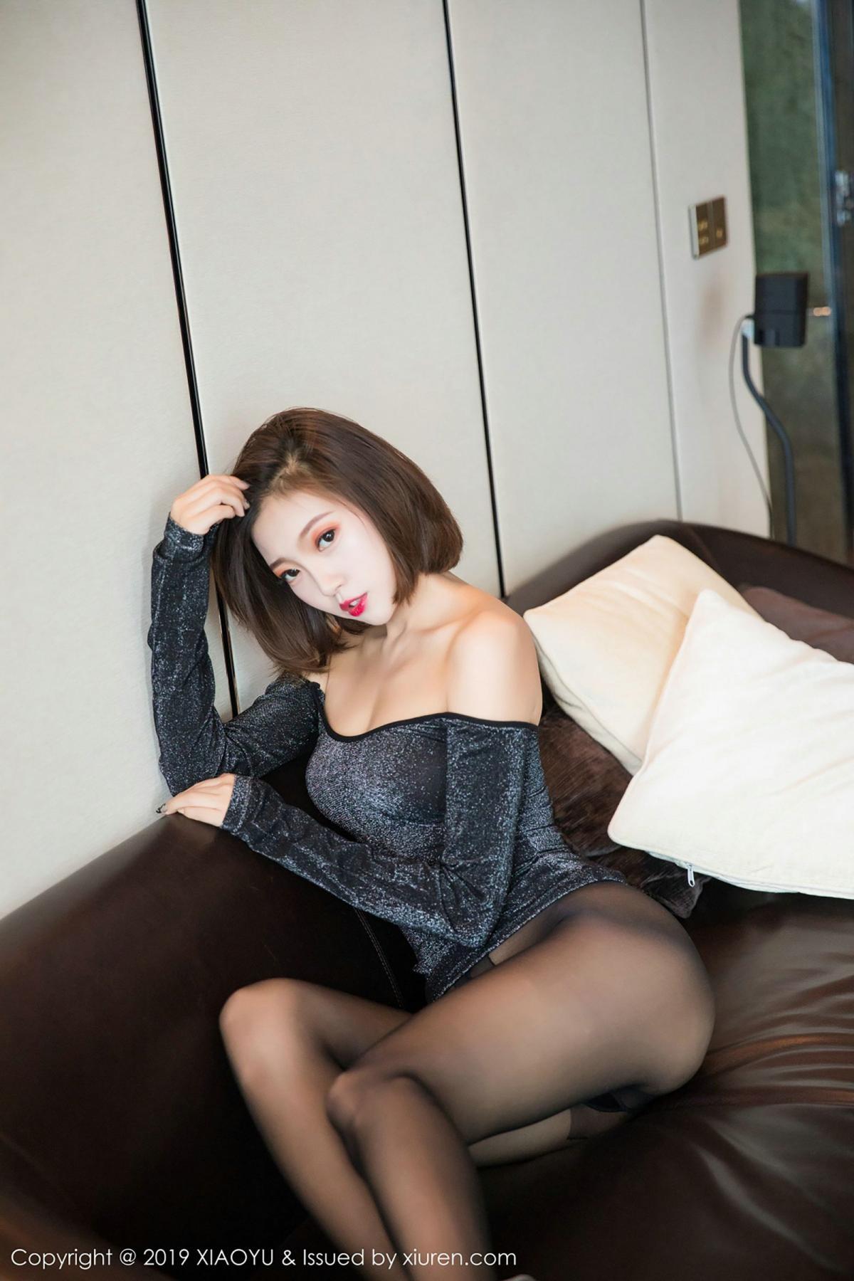 [XiaoYu] Vol.006 Feng Mu Mu 51P, Black Silk, Feng Mu Mu, Tall, XiaoYu