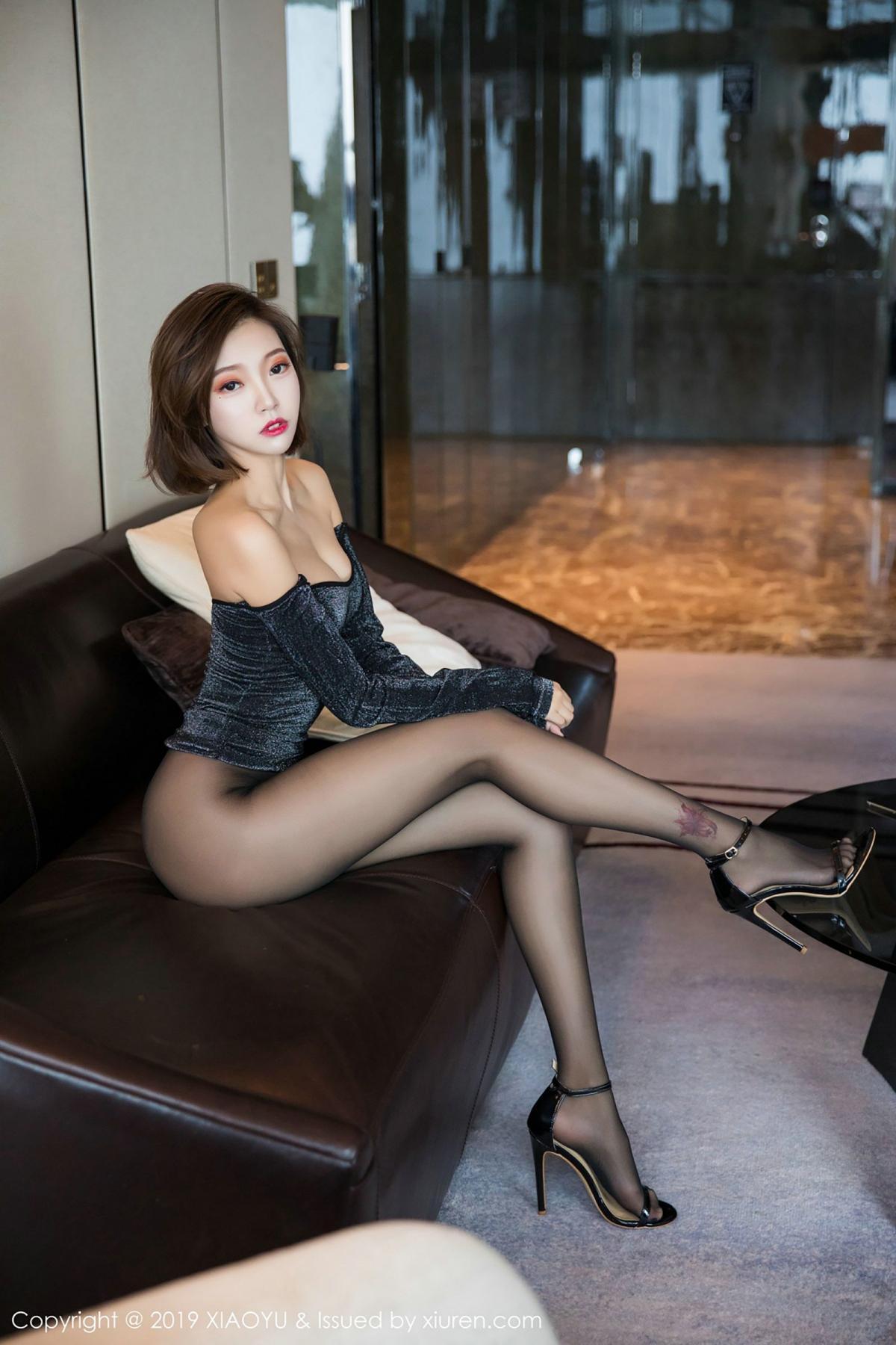 [XiaoYu] Vol.006 Feng Mu Mu 53P, Black Silk, Feng Mu Mu, Tall, XiaoYu