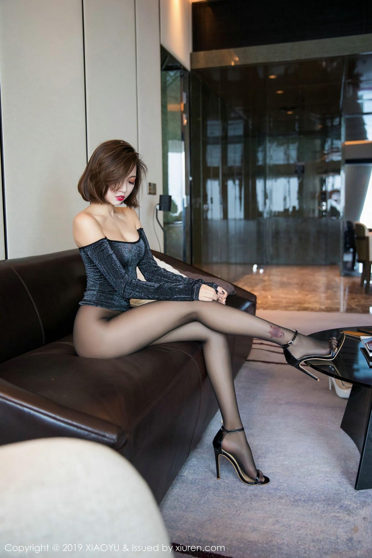 [XiaoYu] Vol.006 Feng Mu Mu 55P, Black Silk, Feng Mu Mu, Tall, XiaoYu